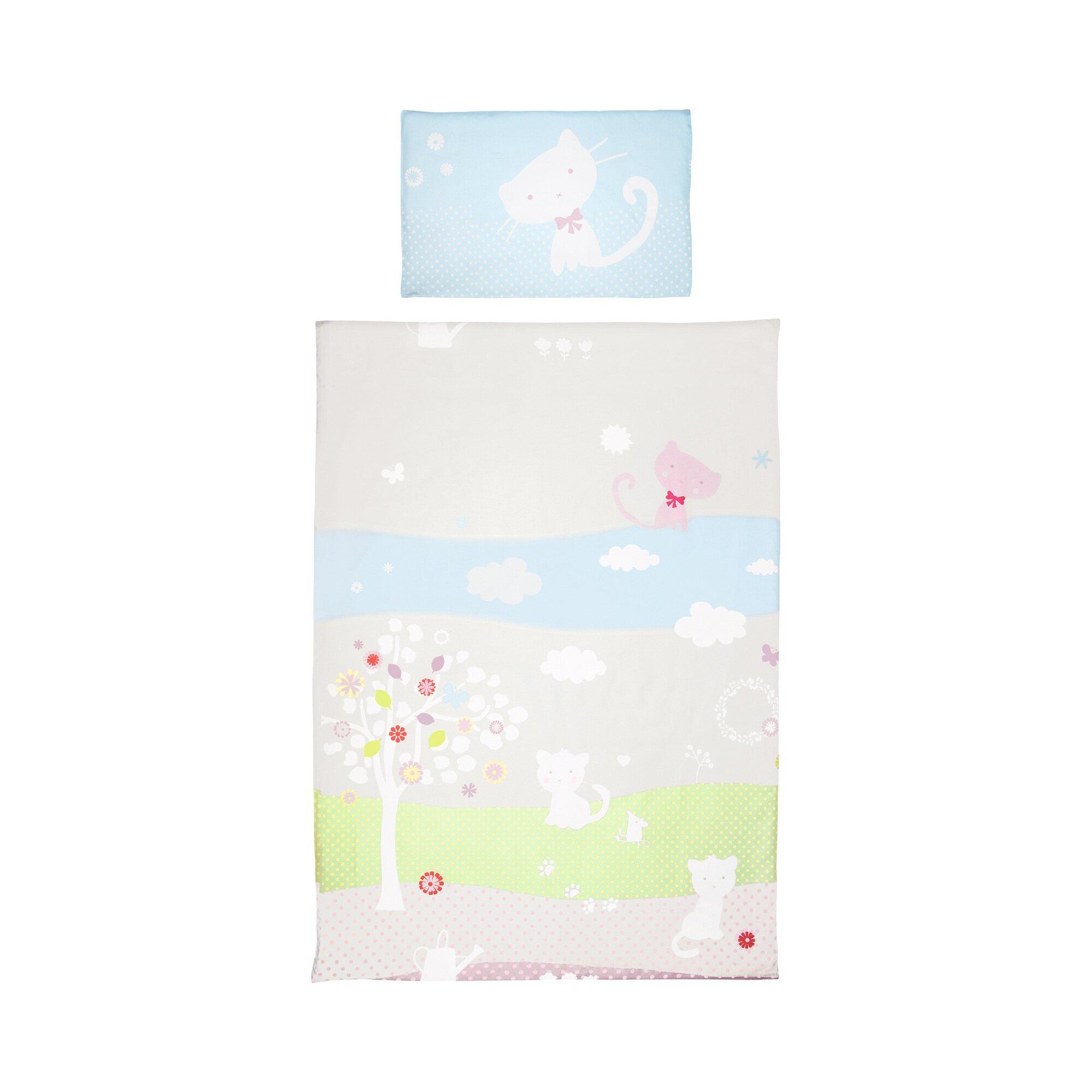 Bebella Vital Bettwäsche Tencel® Little Cats 40x60 / 100x135 cm mehrfarbig