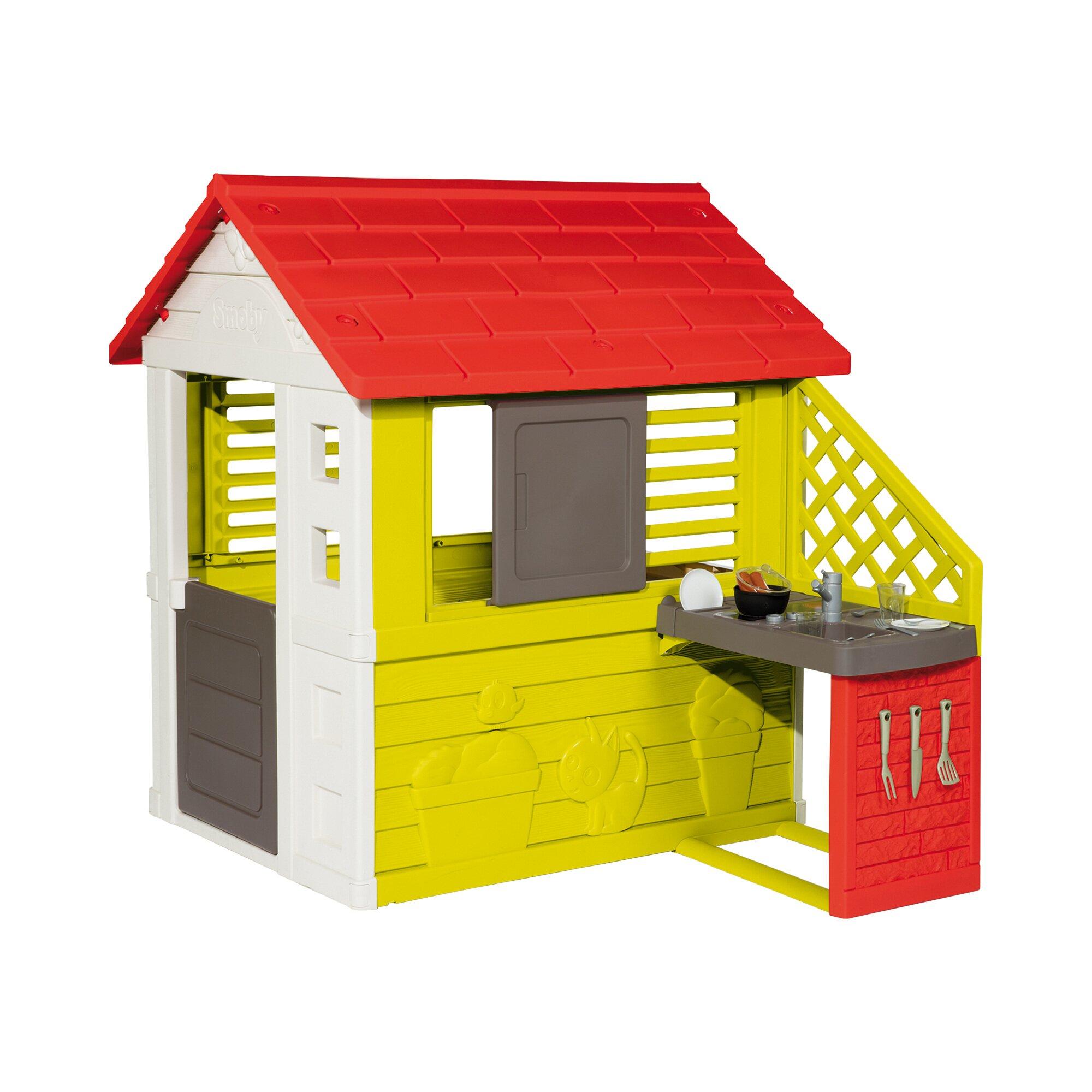 Smoby Spielhaus Natur mit Sommerküche