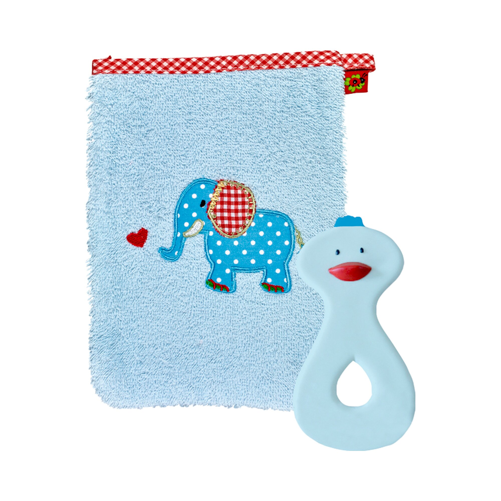 Coppenrath Die Spiegelburg Geschenkset Waschlappen und Beißring BabyGlück