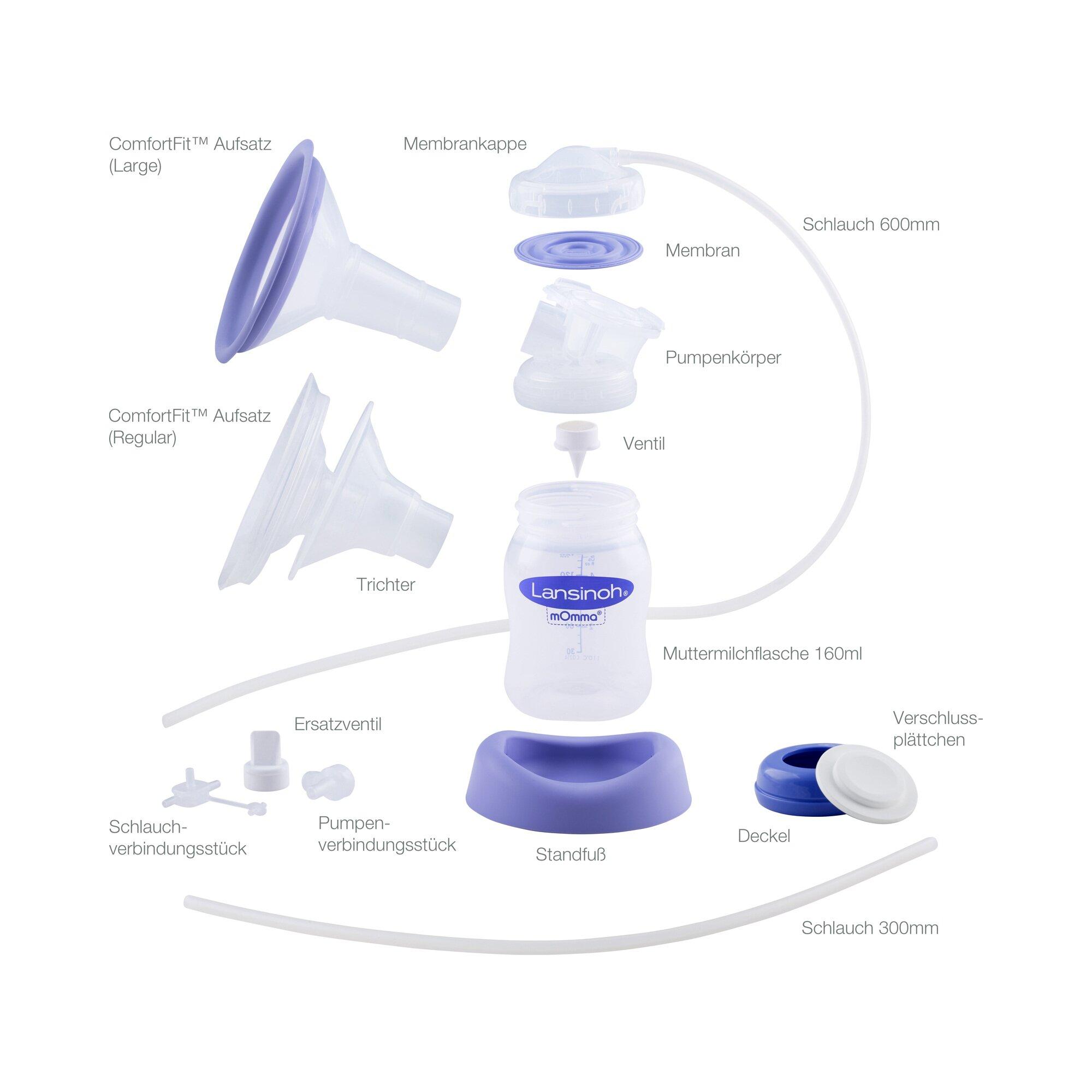 lansinoh-pumpset-ersatzteile-elektrische-milchpumpe