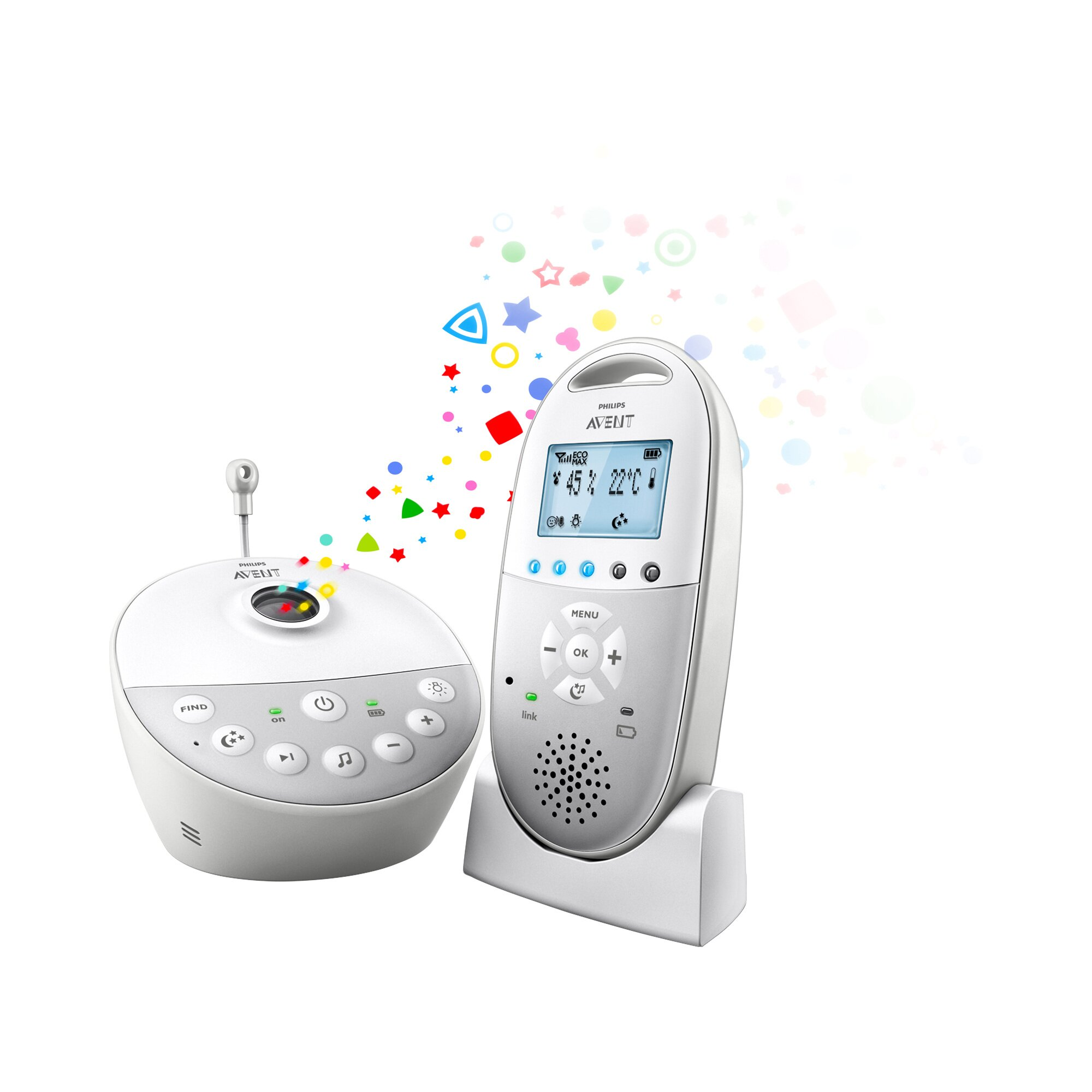 Philips Avent DECT Babyphone, SCD585/26, Sternenhimmel