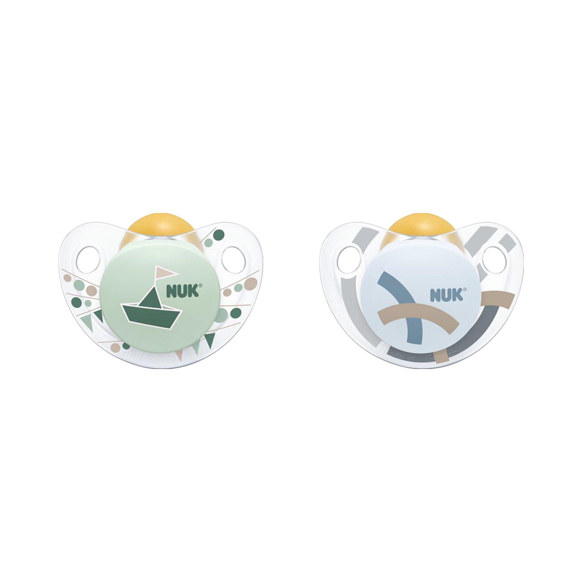 Nuk 2er-Pack Schnuller Trendline Latex 0-6M