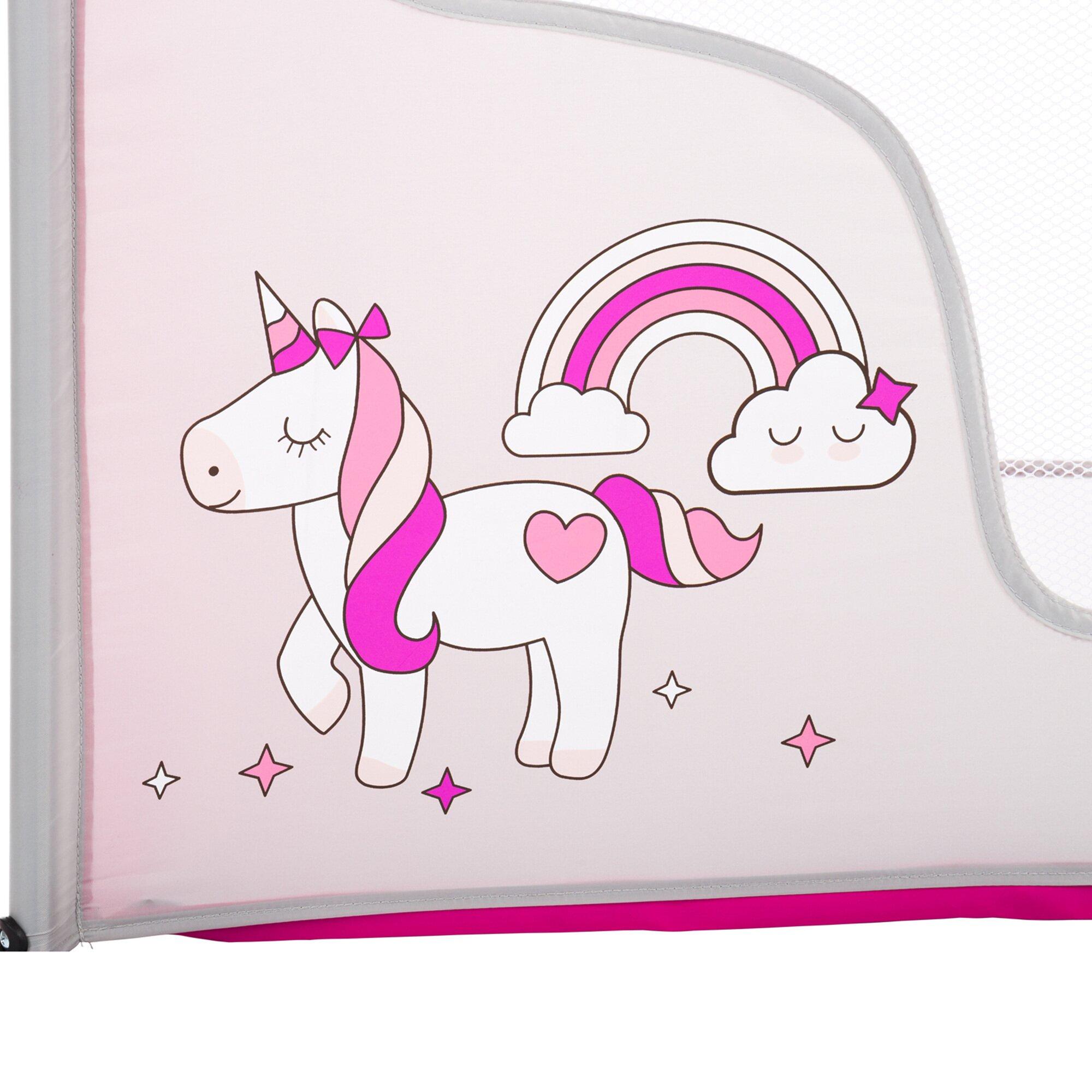 fillikid-reisebett-einhorn-grau-rosa