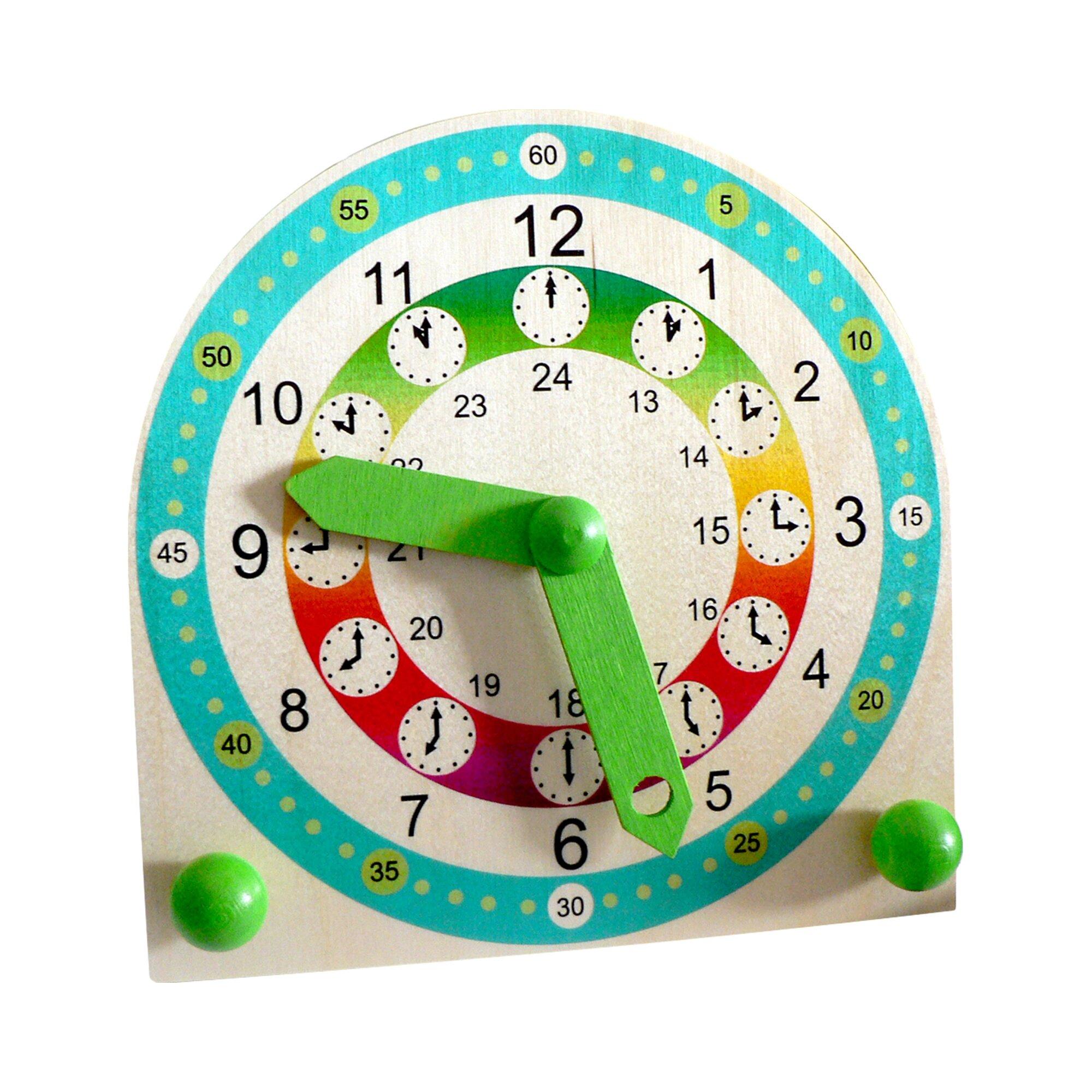 Hess Spielzeug Stand-Kinderlernuhr