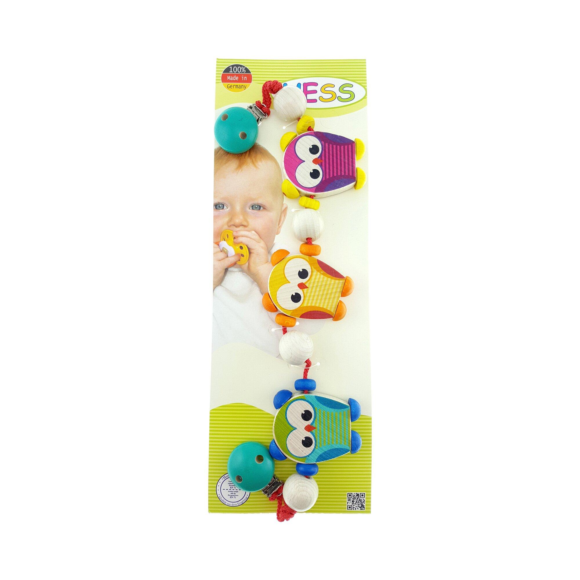 hess-spielzeug-kinderwagenkette-aus-holz-eulen-mehrfarbig