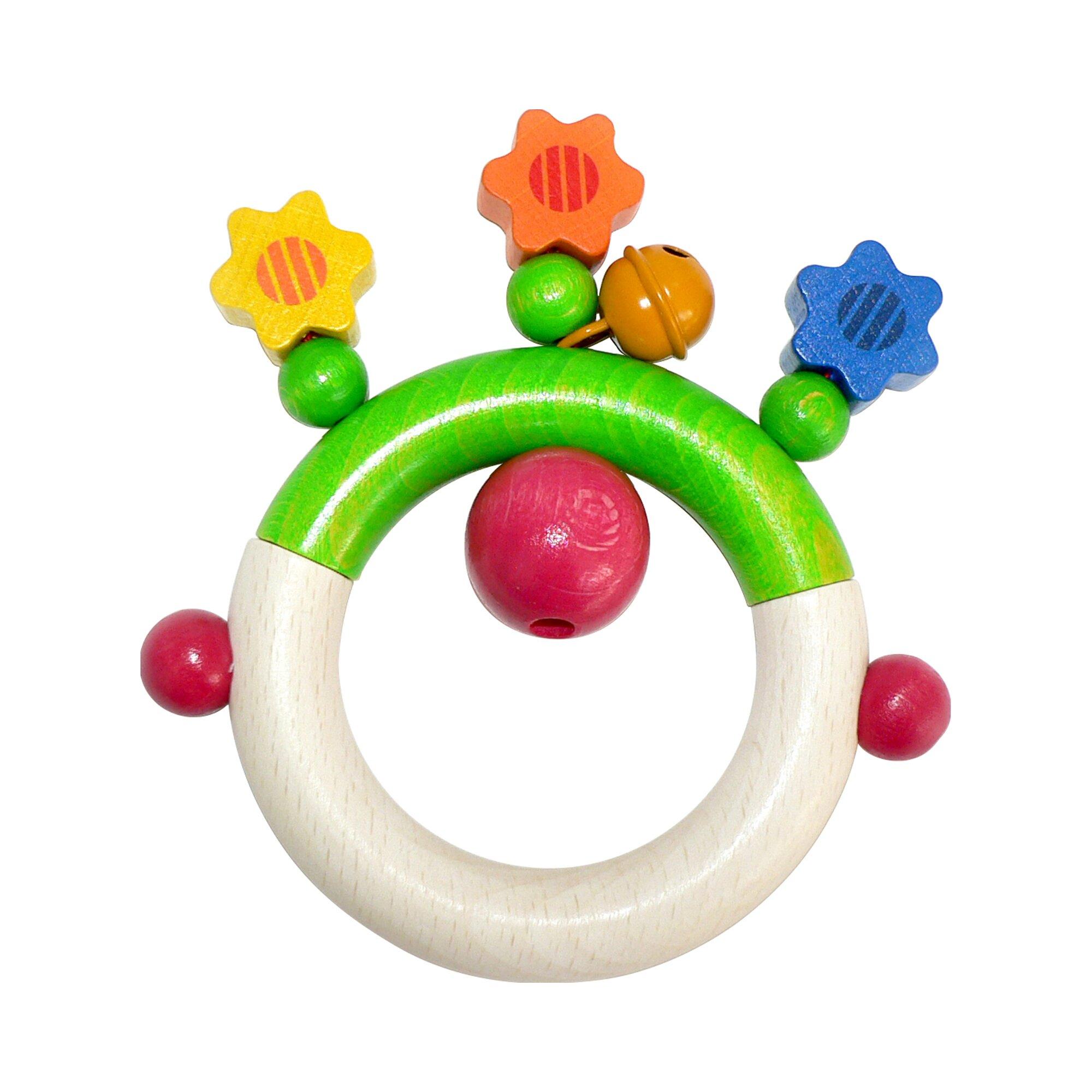 Hess Spielzeug Rassel Blumen