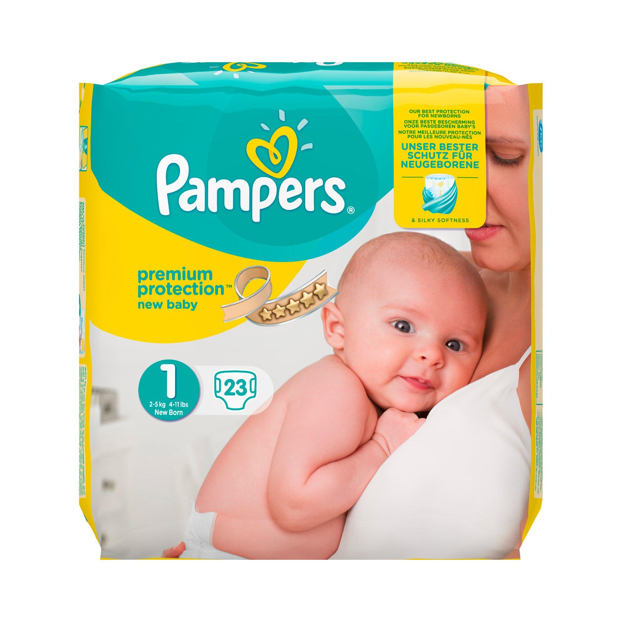Pampers Windeln New Baby Gr.1 Newborn 2-5kg, 23 Stück
