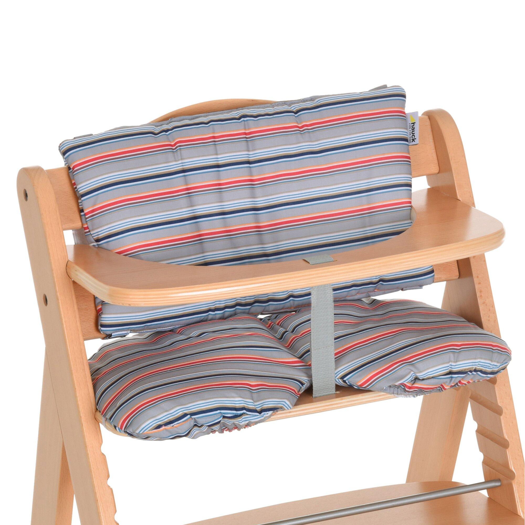 Hauck Sitzkissen multi stripe grey
