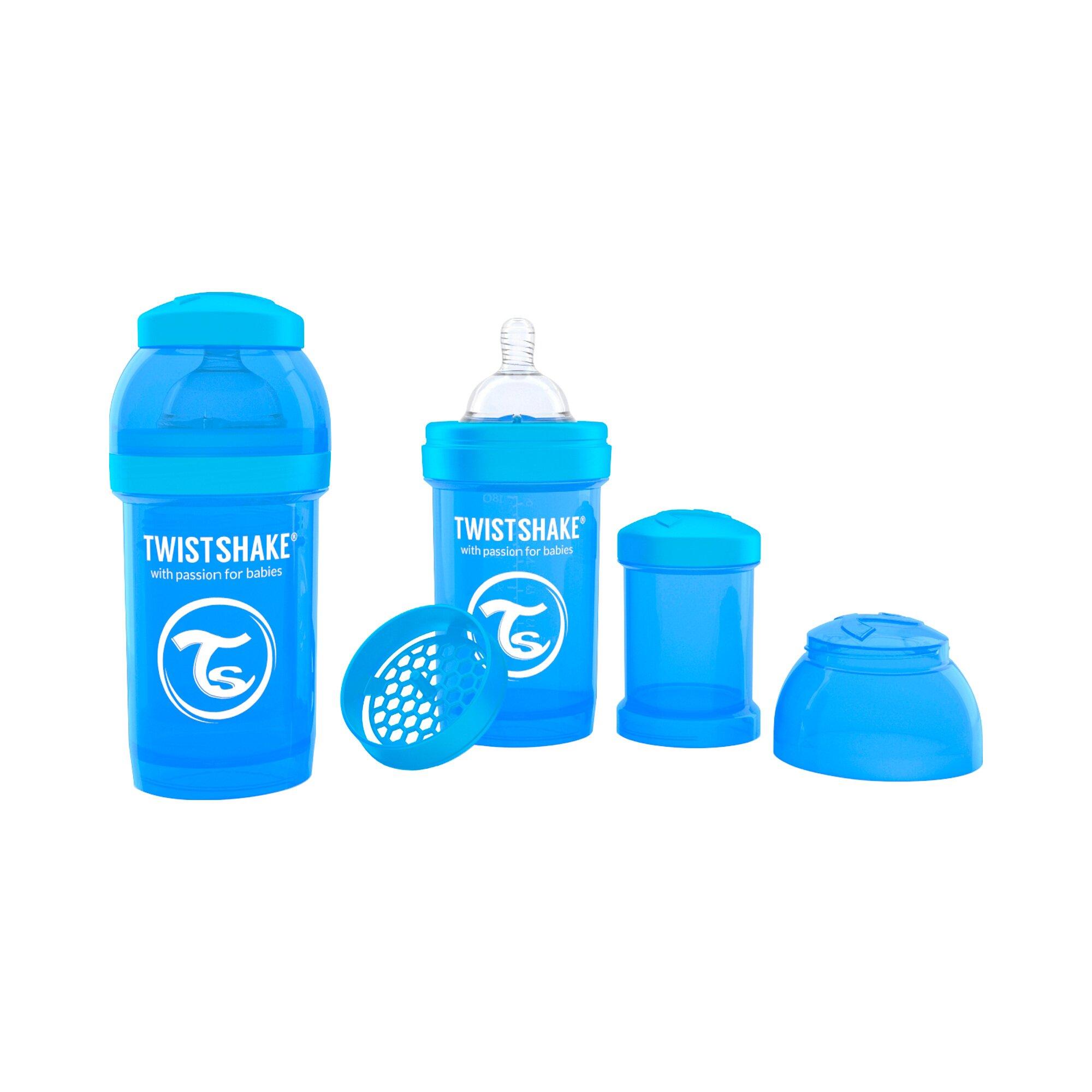 Vital Innovations Anti-Colic-Weithals-Flasche Twistshake 180ml, Kunststoff, ab 0M