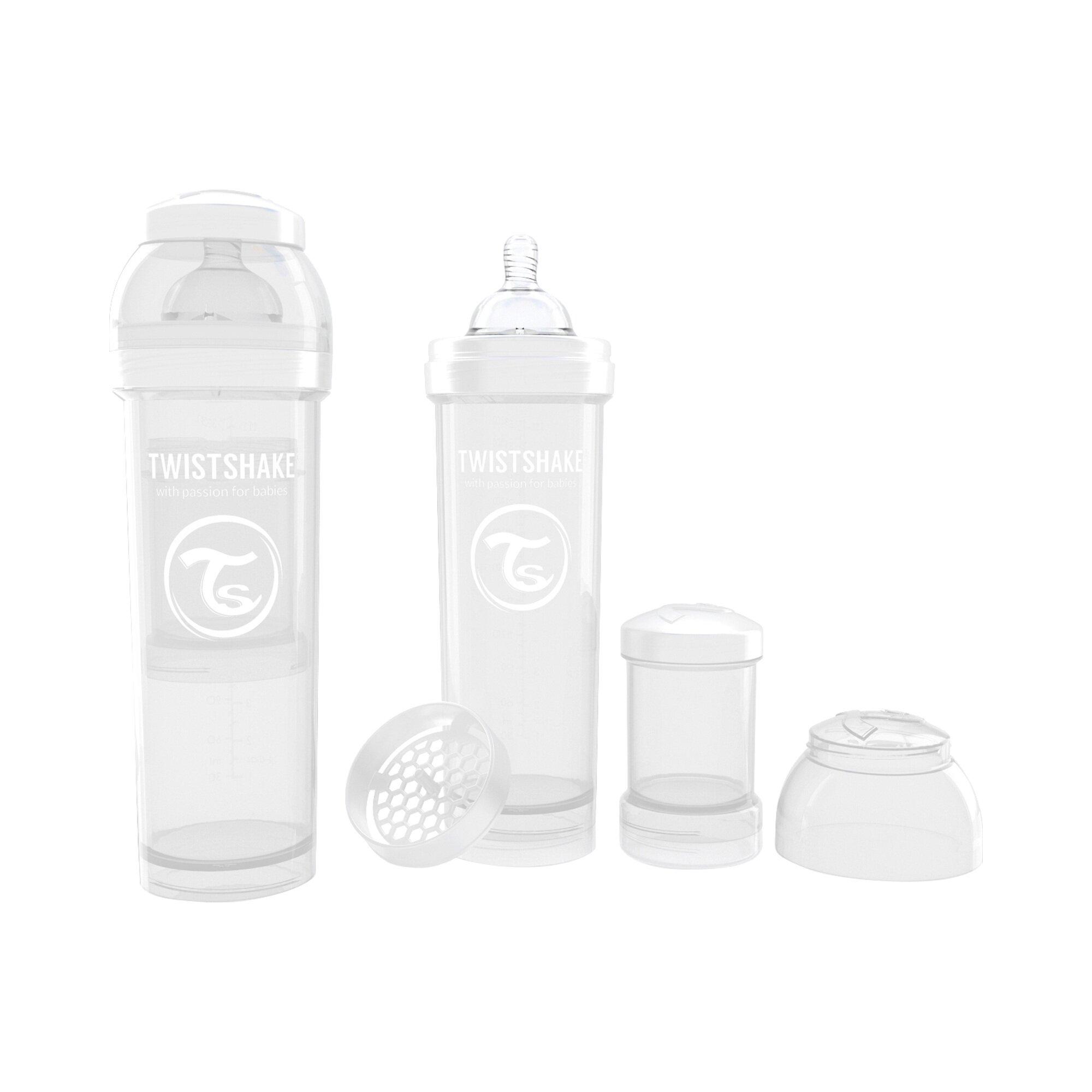 Vital Innovations Anti-Colic-Weithals-Flasche Twistshake 330ml, Kunststoff, ab 0M