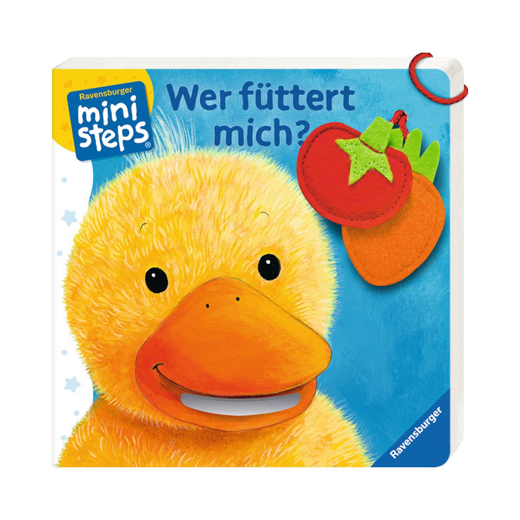 Ministeps Pappbilderbuch Wer füttert mich?