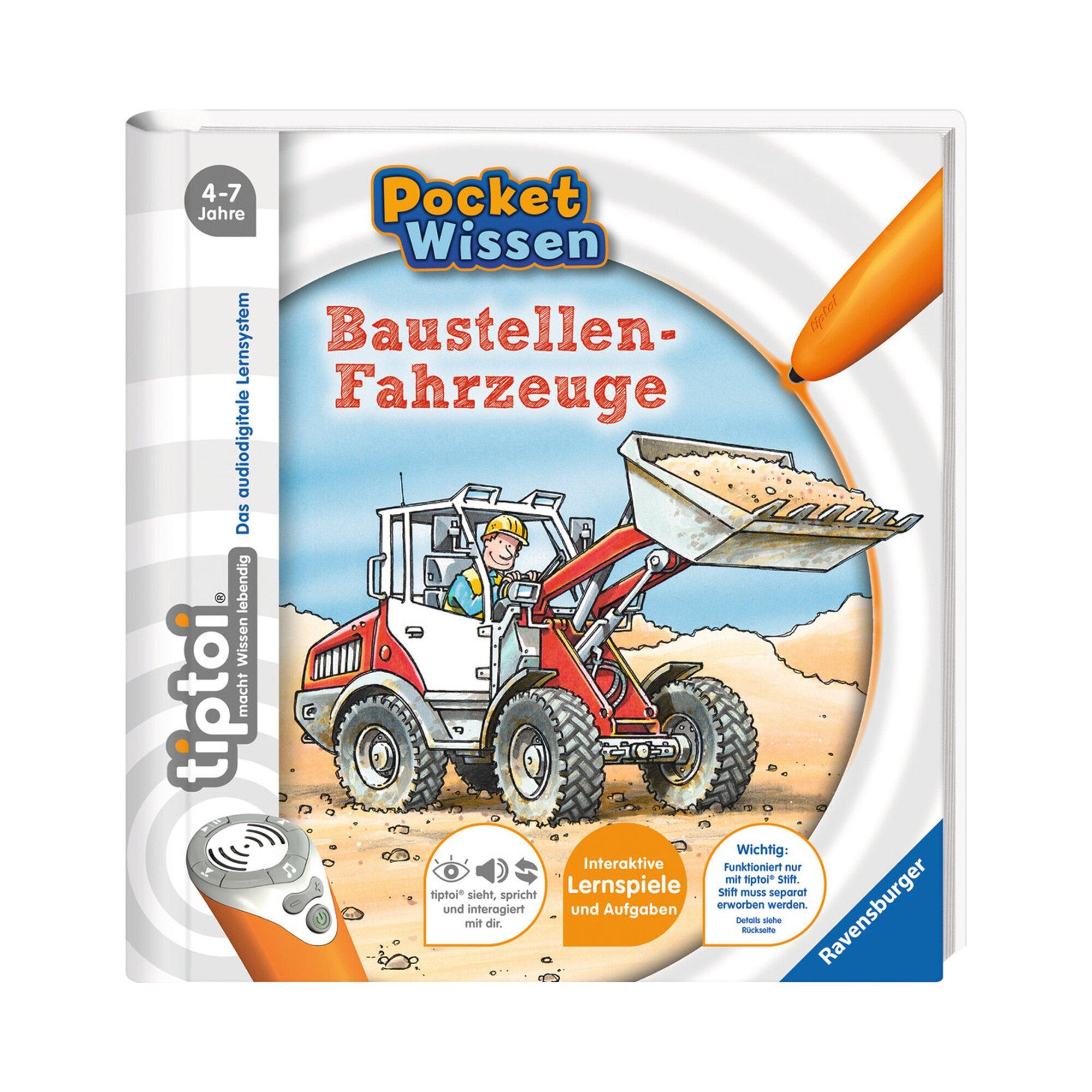 Tiptoi Pocket Wissen Baustellen-Fahrzeuge