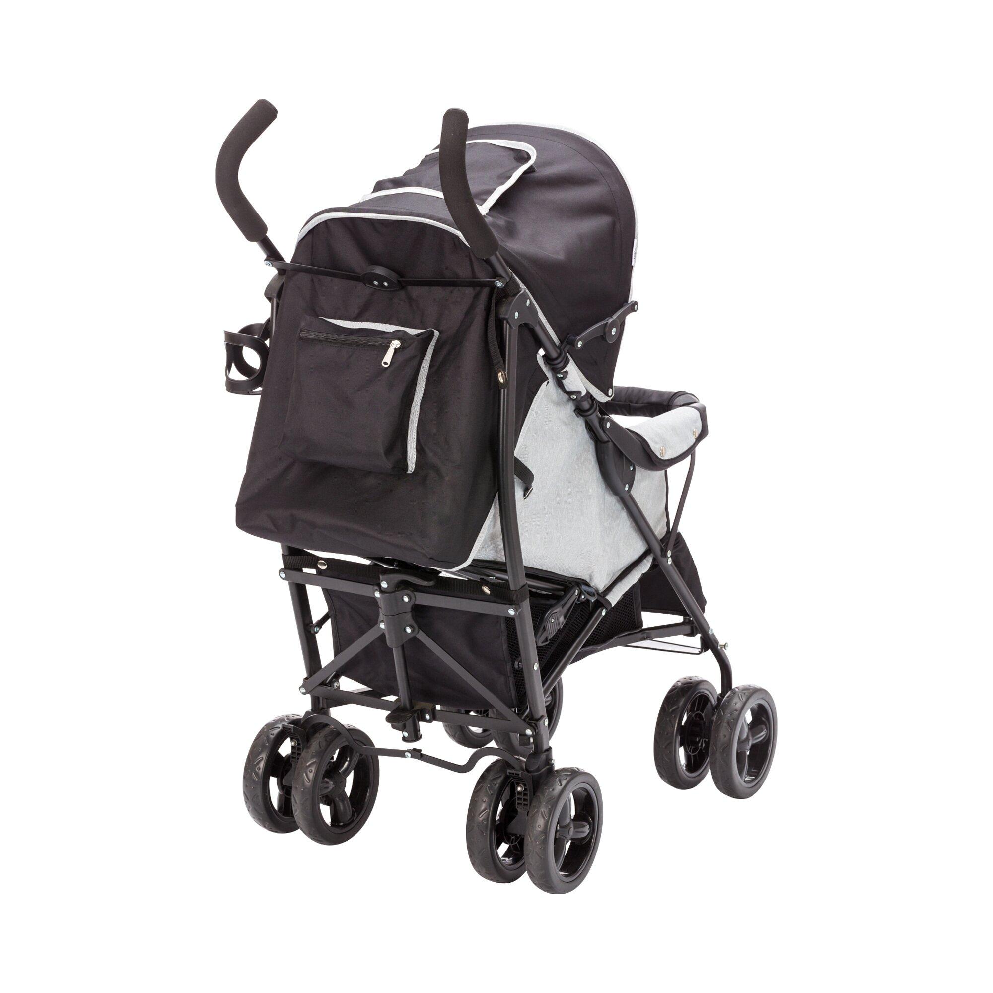 babycab-elias-buggy-mit-liegefunktion-grau