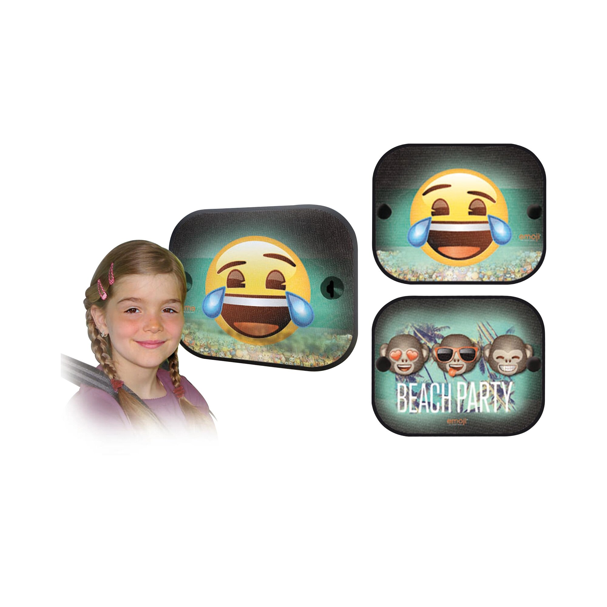 Emoji Sonnenschutz gruen