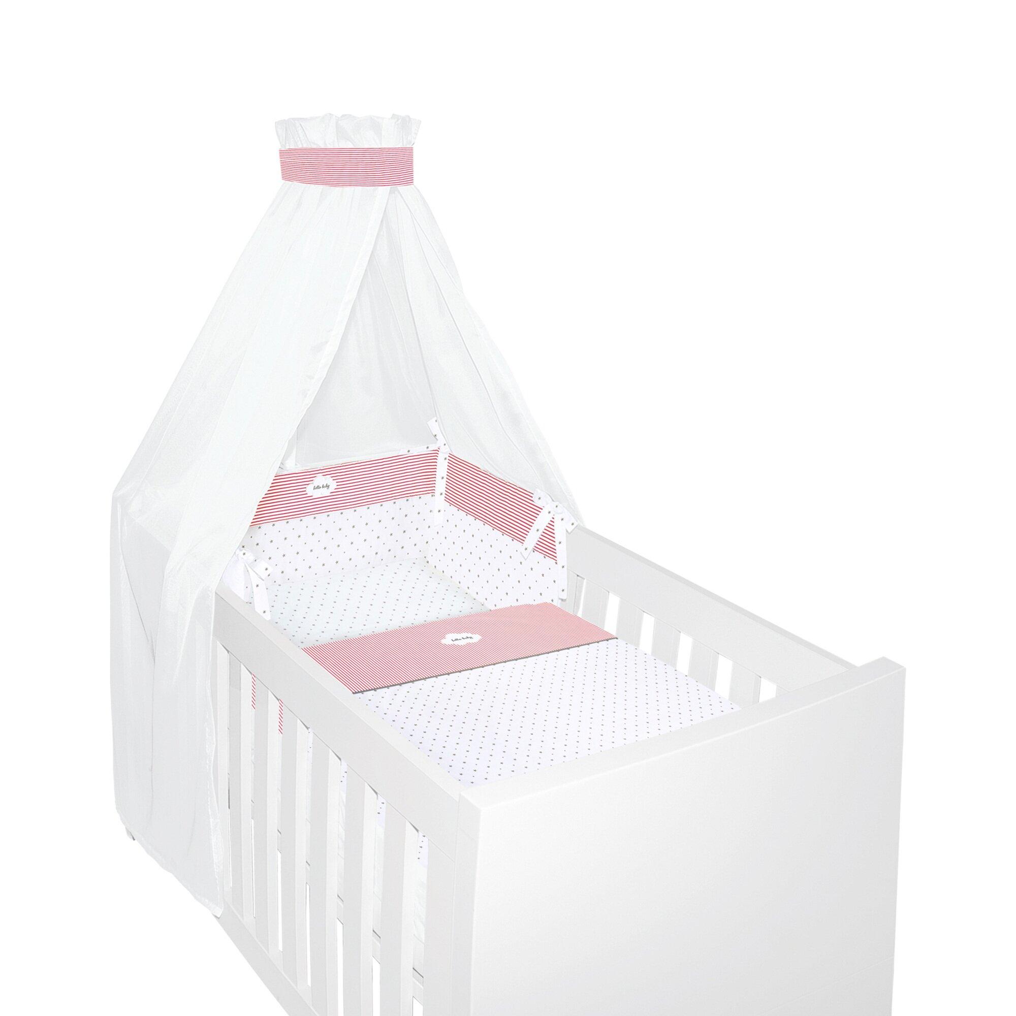 Bornino Home 4-tlg. Bettwäscheset hello baby 40x60 / 100x135 cm pink