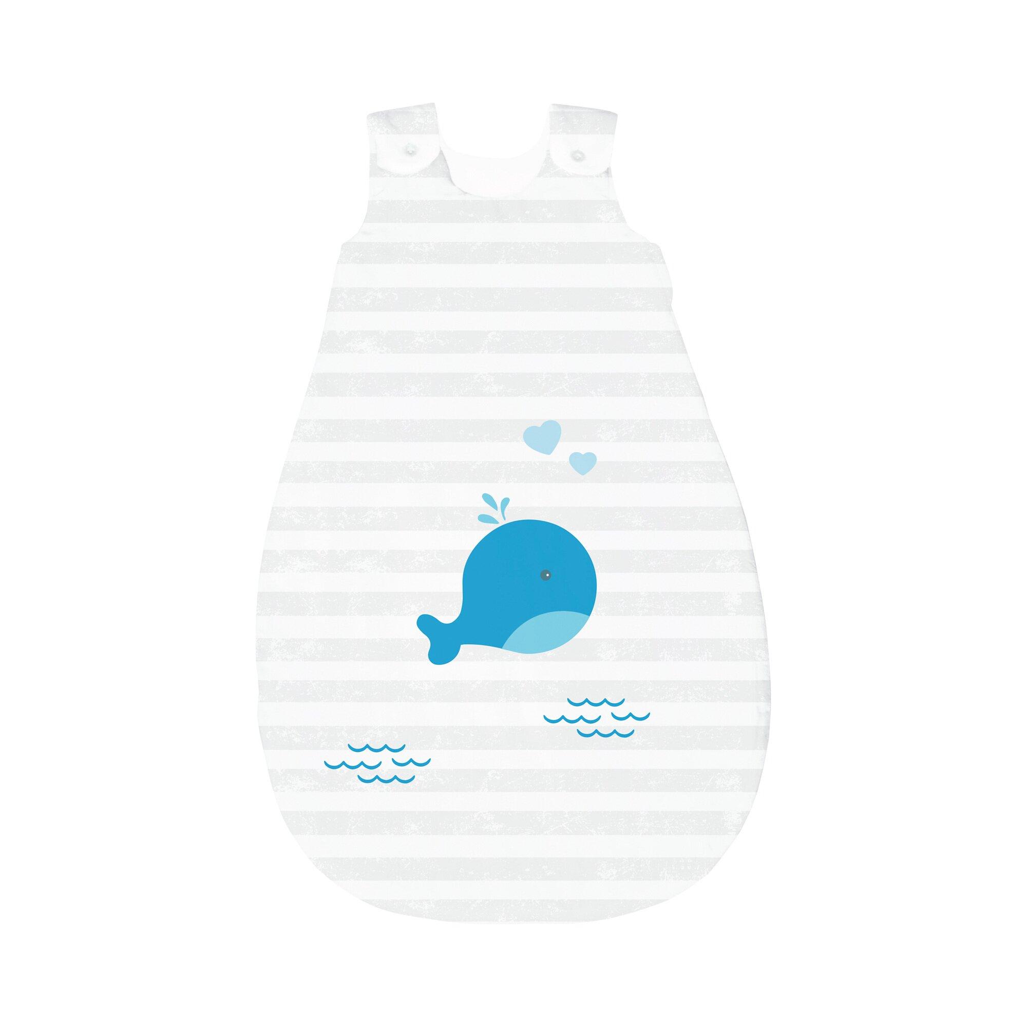 Bornino Home Ganzjahresschlafsack kleiner Wal