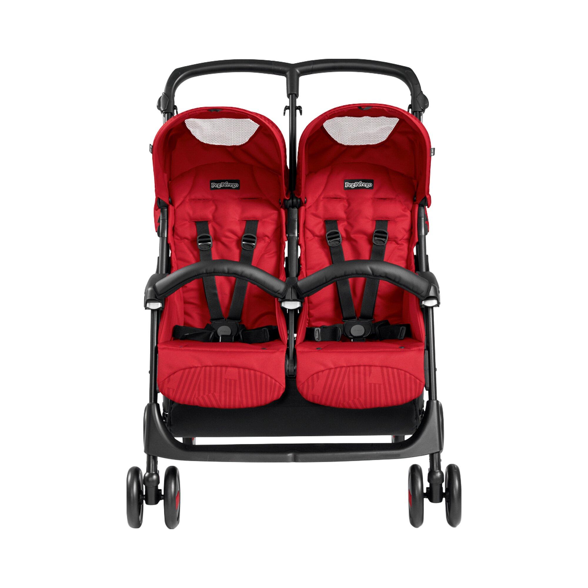 peg-perego-aria-shopper-twin-zwillings-und-kinderwagen-geschwisterwagen-design-2018-rot