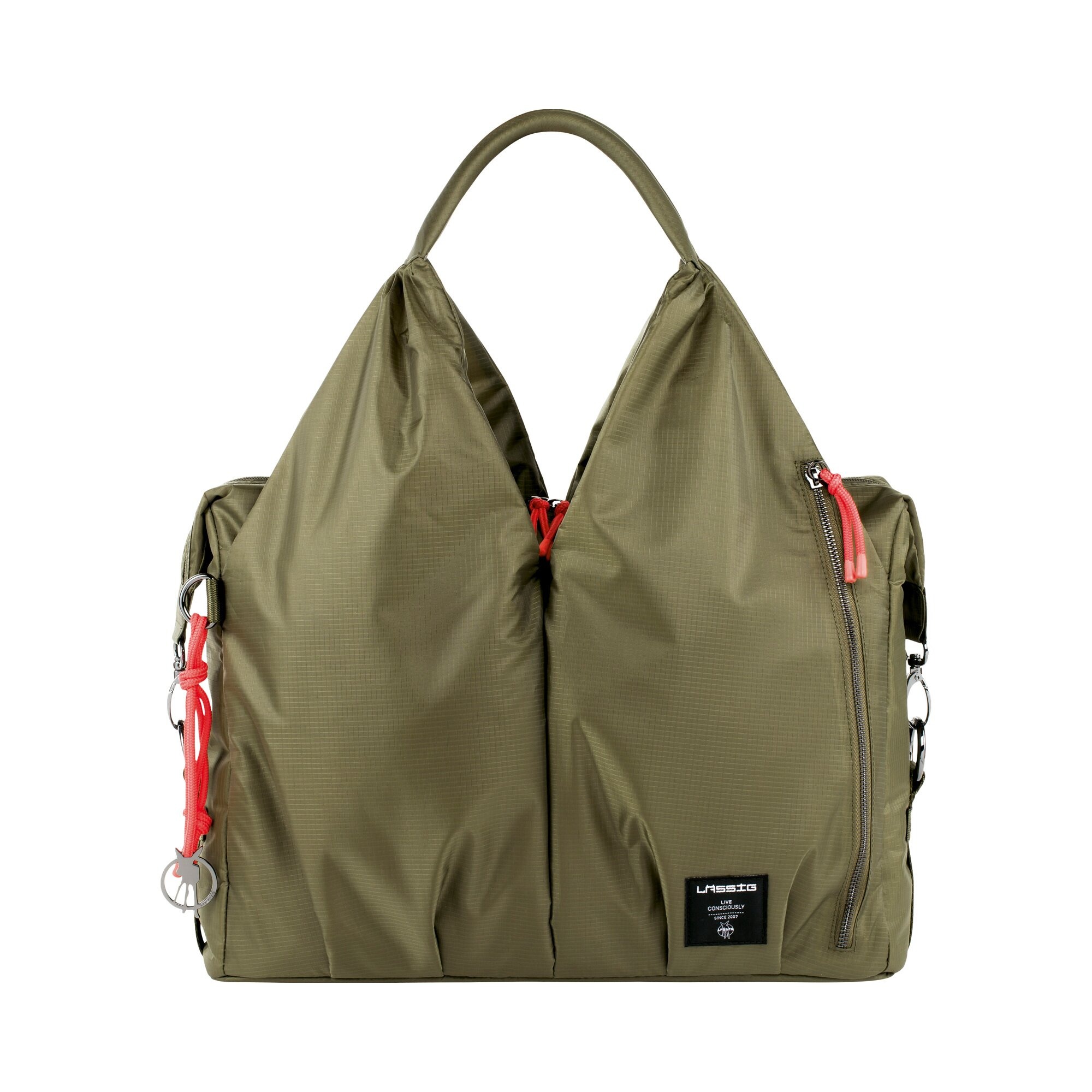 Green Label Wickeltasche Neckline Bag khaki