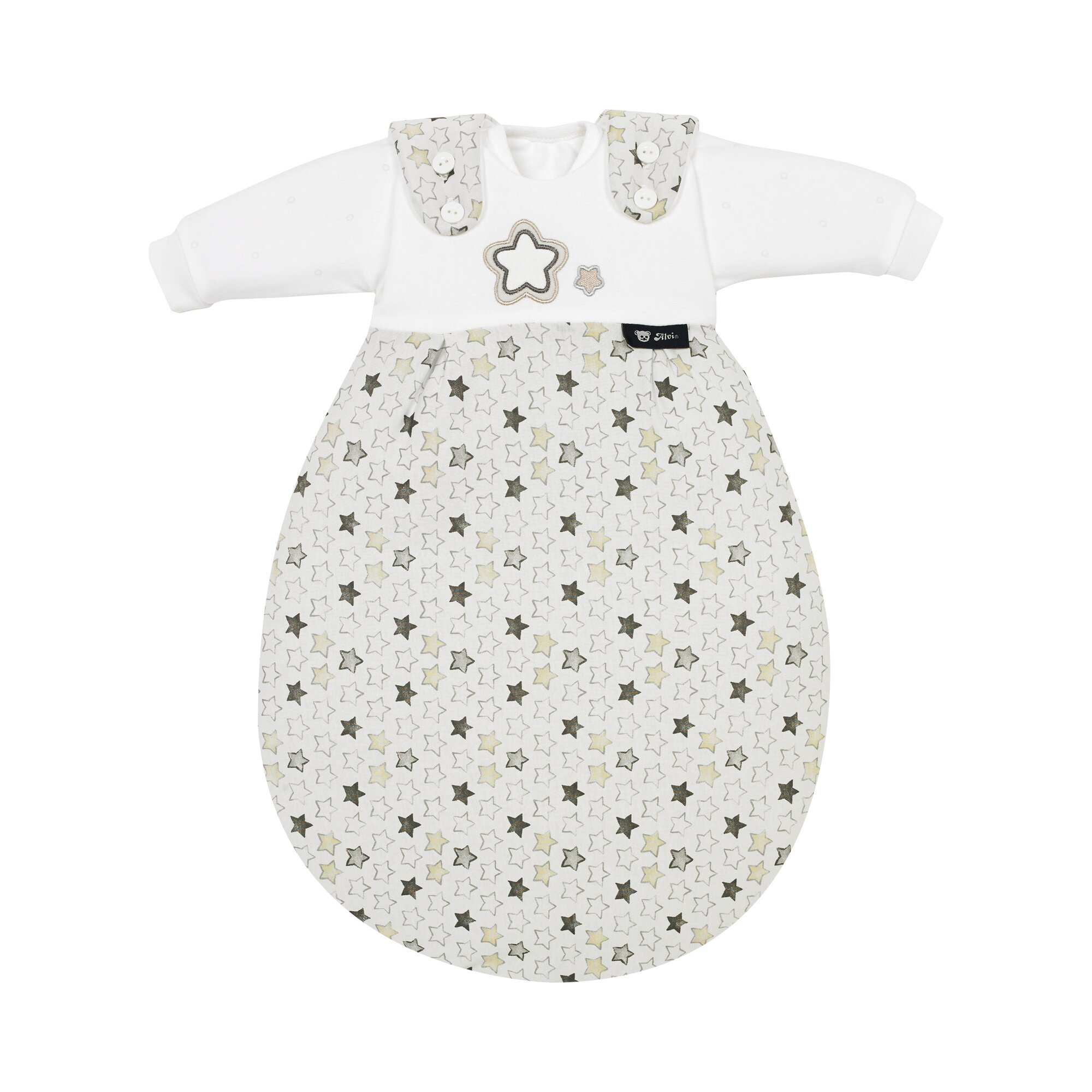 Baby-Mäxchen 3-tlg. Ganzjahresschlafsack Super Soft Stern und Sternchen
