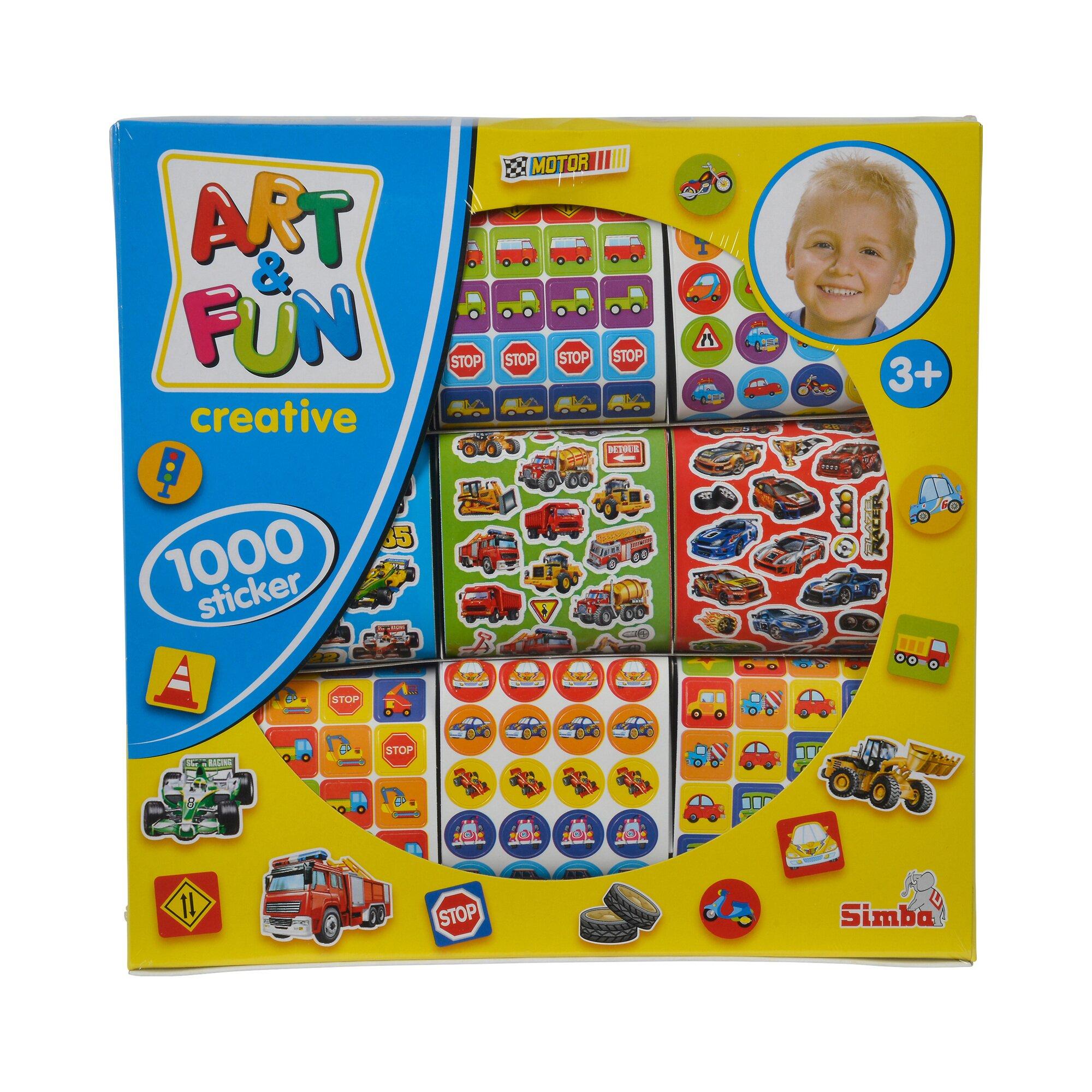 Simba Bastel-Set Sticker Art&Fun 1.000 Stück
