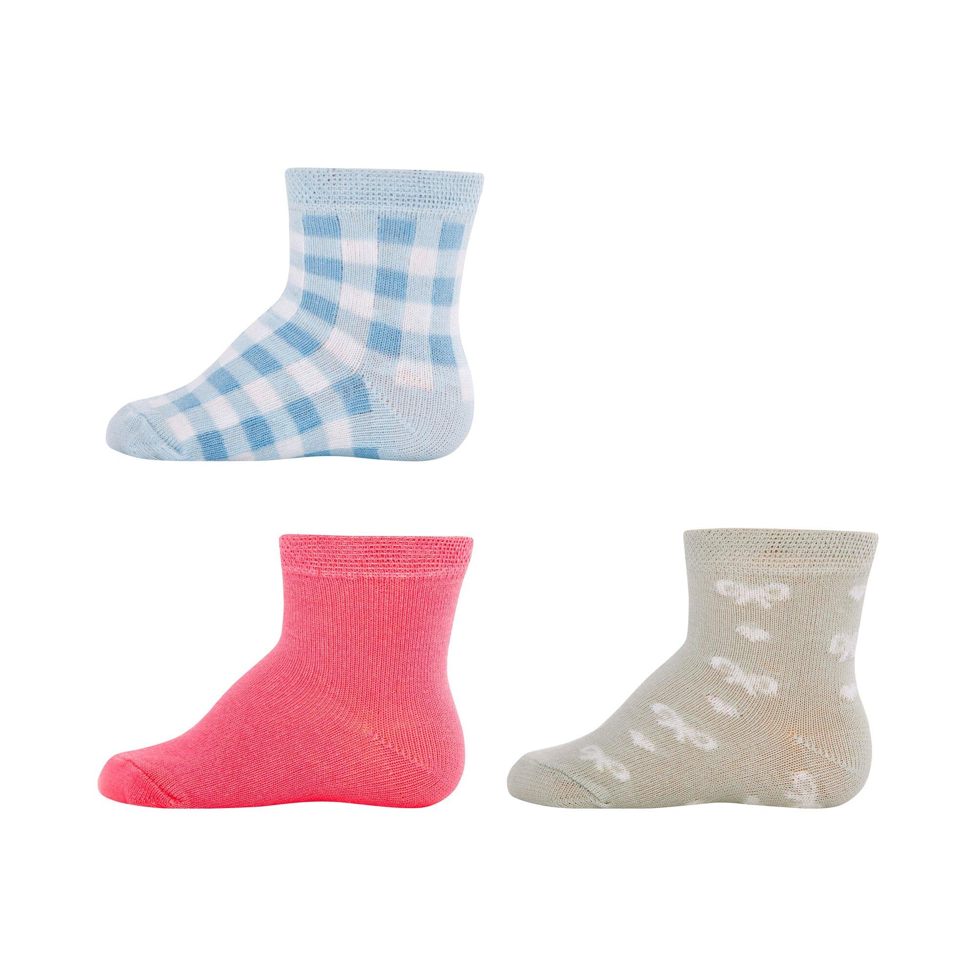 Ewers 3er-Pack Socken Karo Schleifen