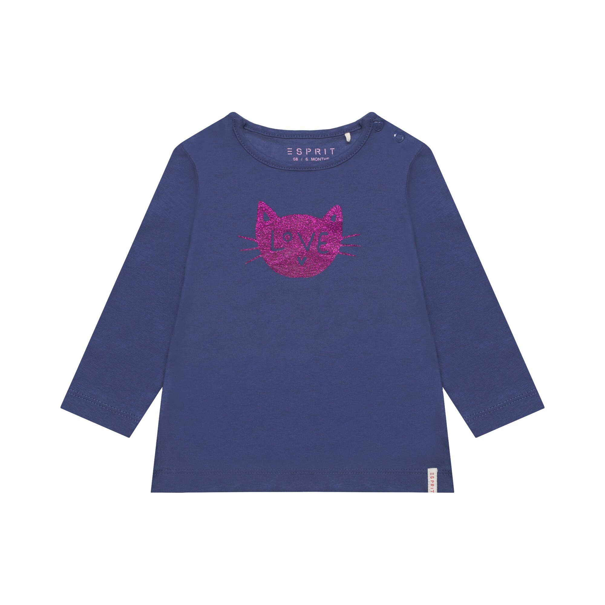 Esprit Shirt langarm Katze