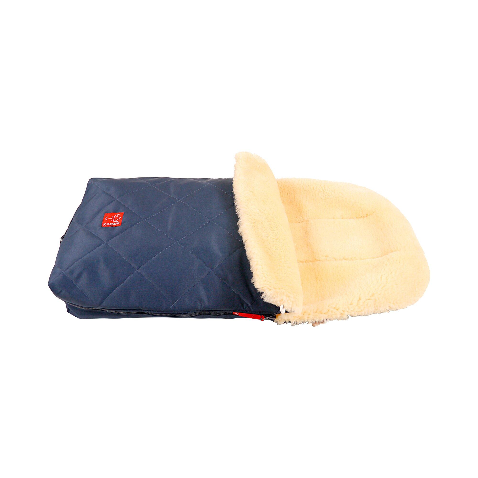 kaiser-lammfellfu-sack-naturell-fur-kinderwagen-buggy-blau