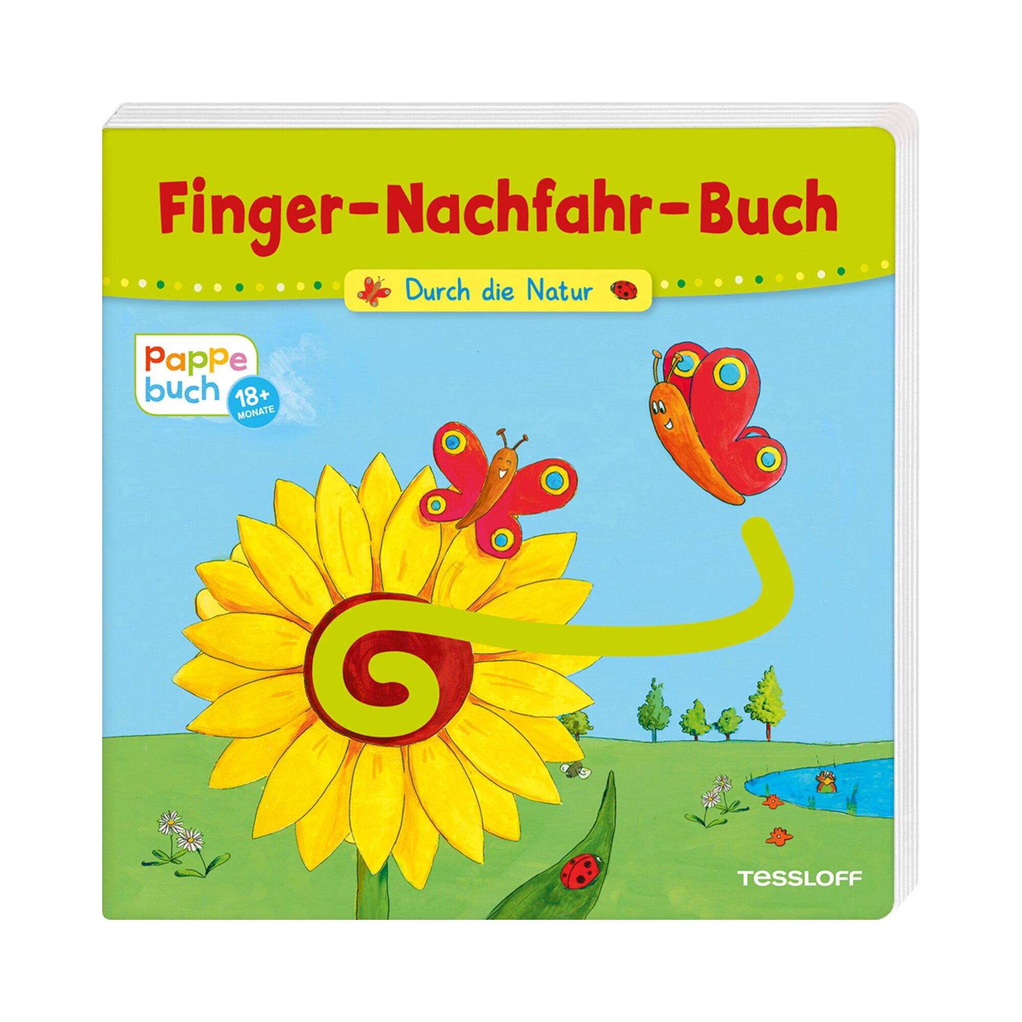 Tessloff Verlag Pappbilderbuch Finger-Nachfahr-Buch Durch die Natur