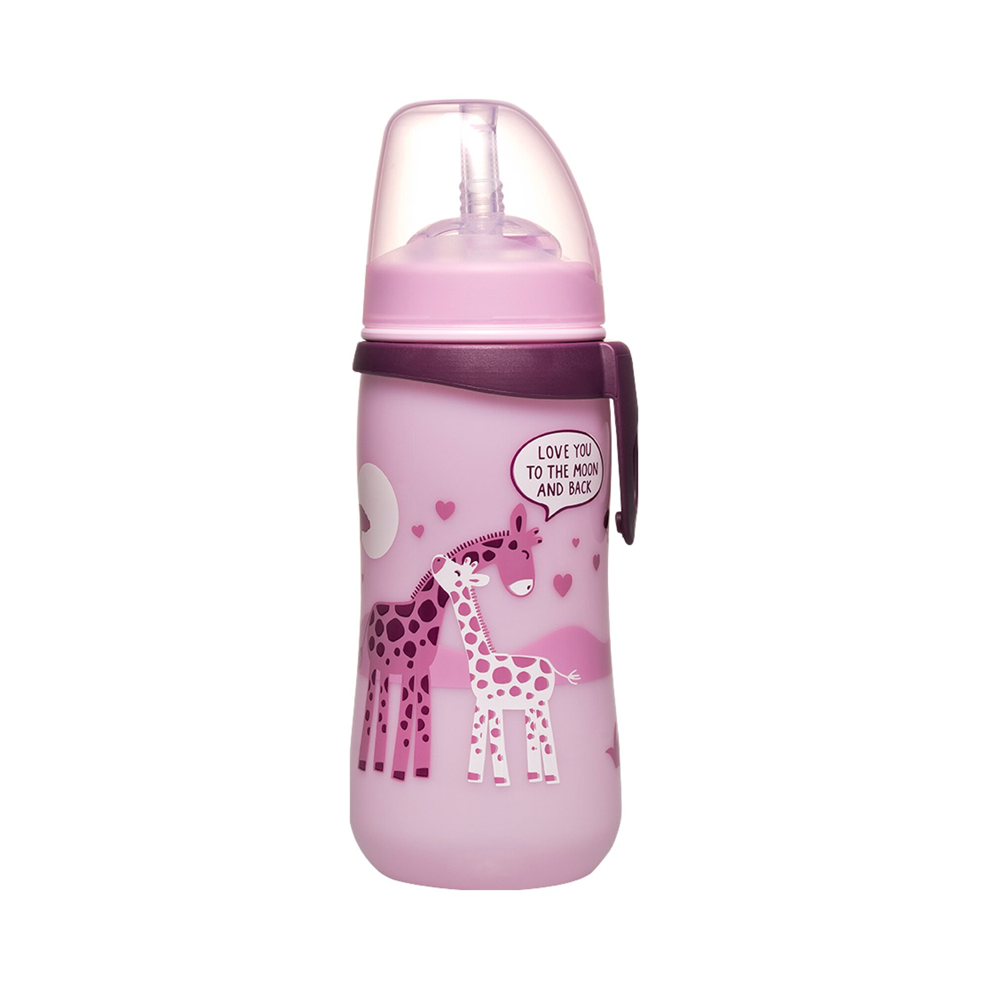 Nip Trinkflasche mit Trinkhalm Straw Cup, ab 12M