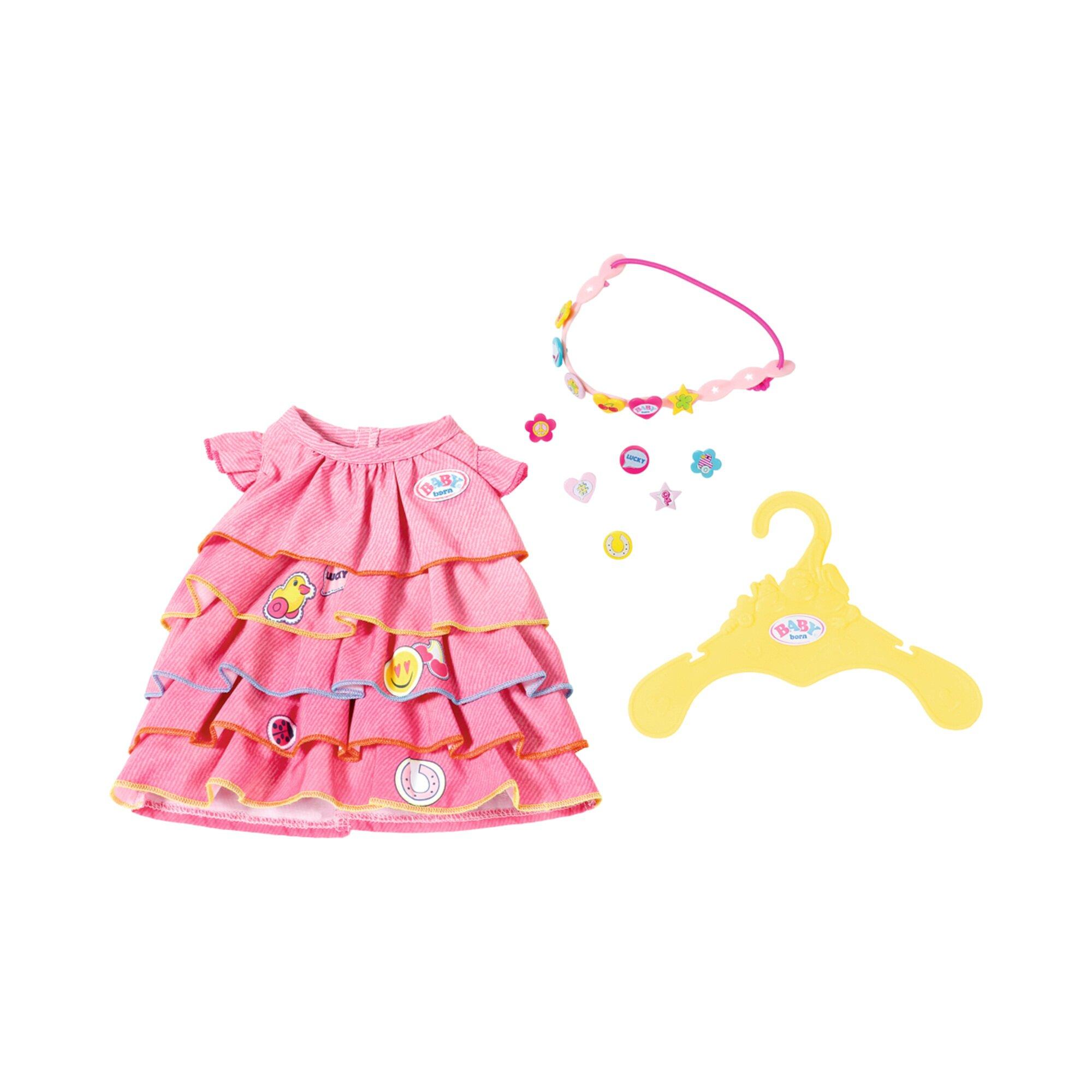 Baby Born Puppen Sommerkleid Set mit Pins