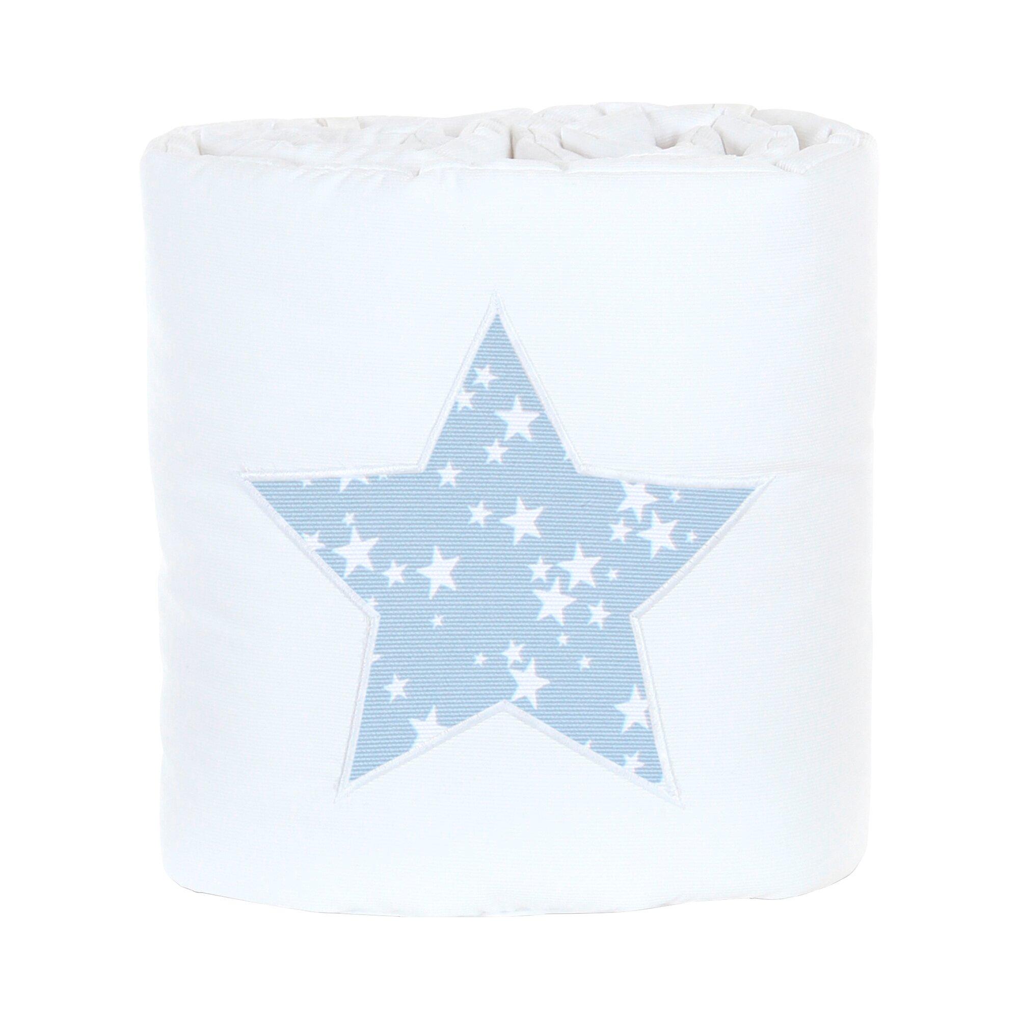 Babybay® Nestchen Piqué für Beistellbett Original blau