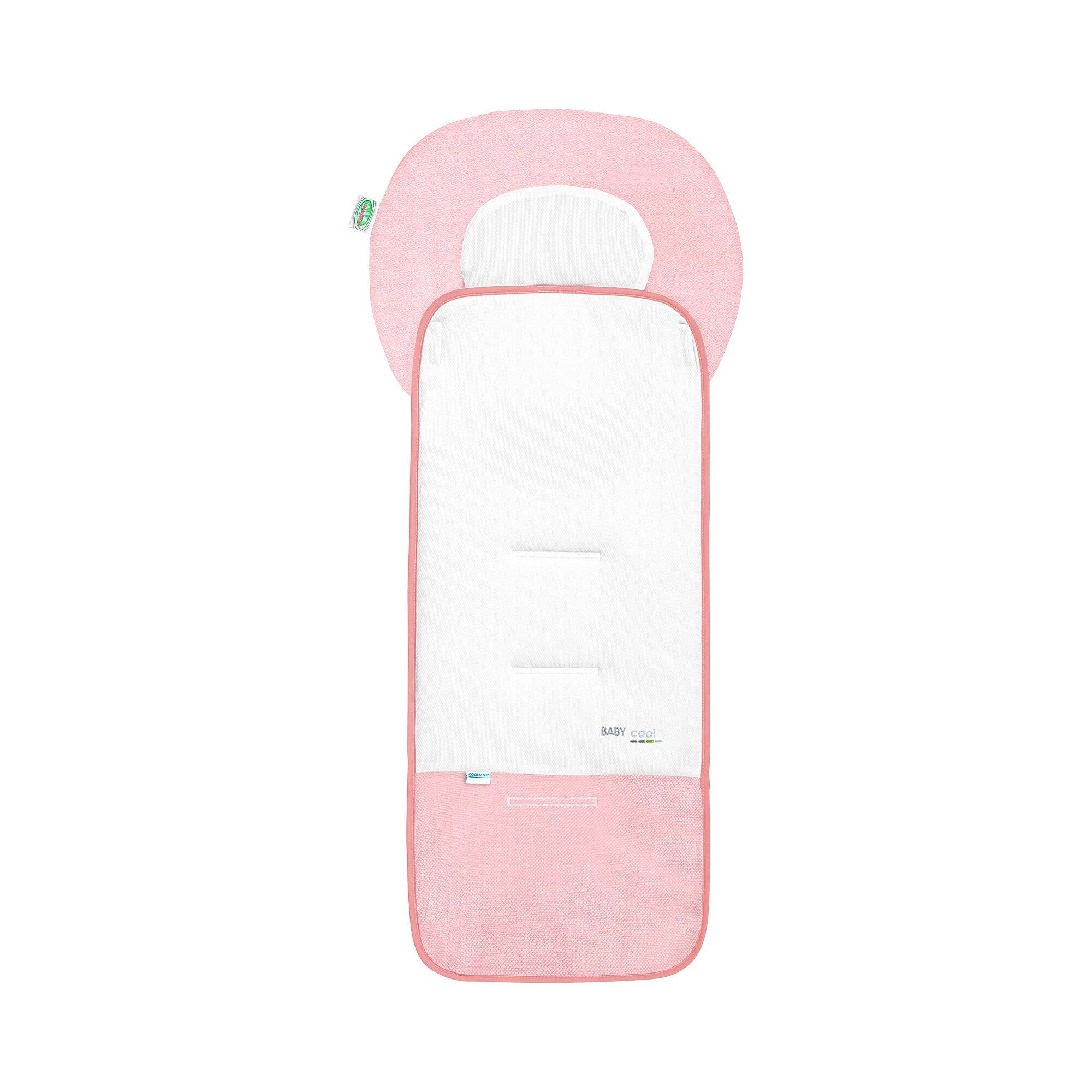 Odenwälder Sitzauflage Baby-Cool für Buggy, Kinderwagen rosa