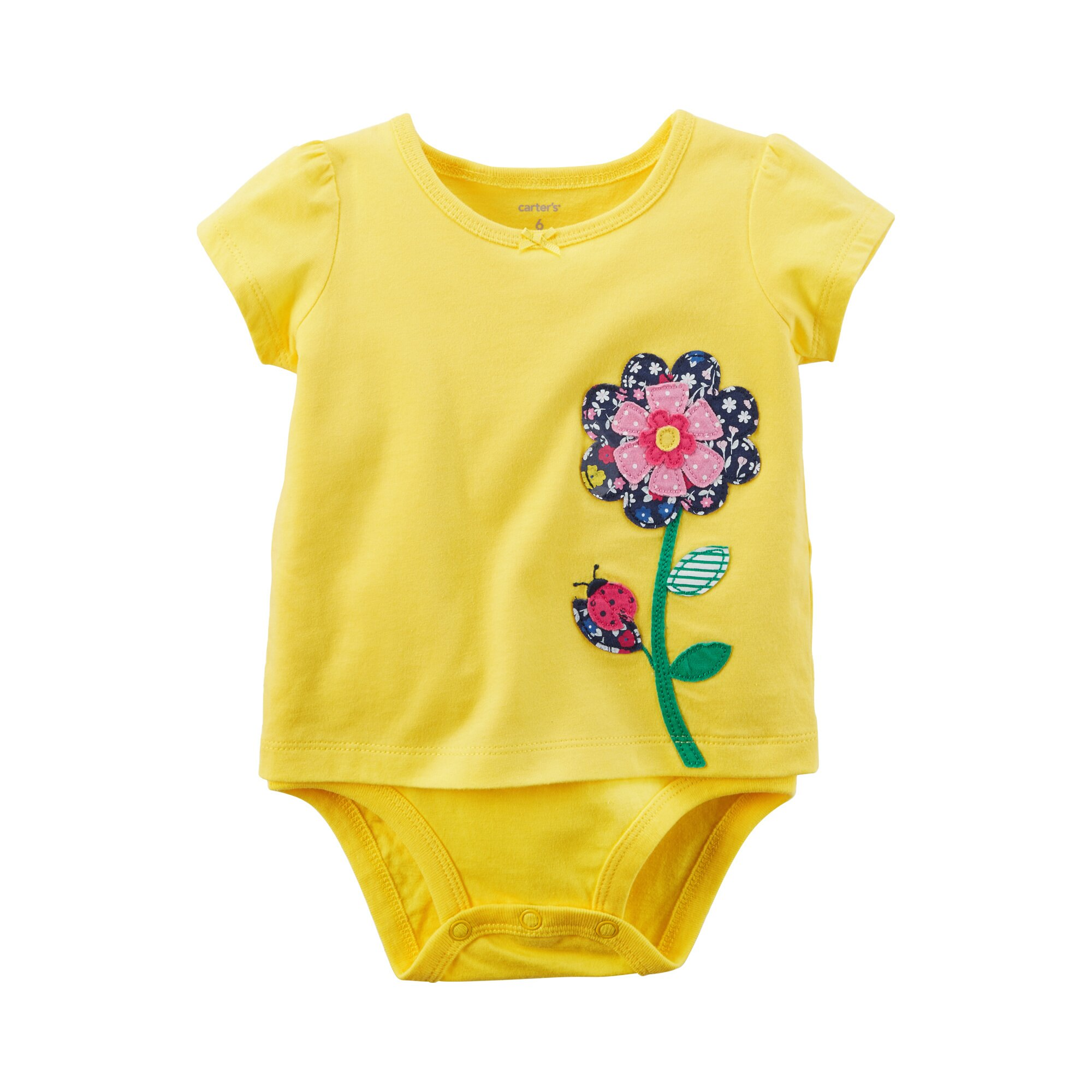 Carter´S Shirt-Body kurzarm Blume