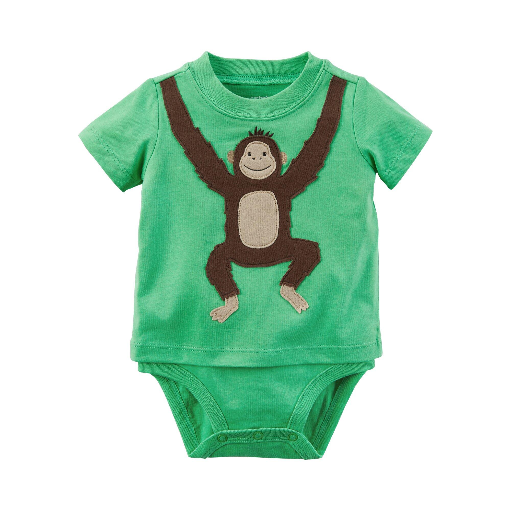 Carter´S Shirt-Body kurzarm Affe