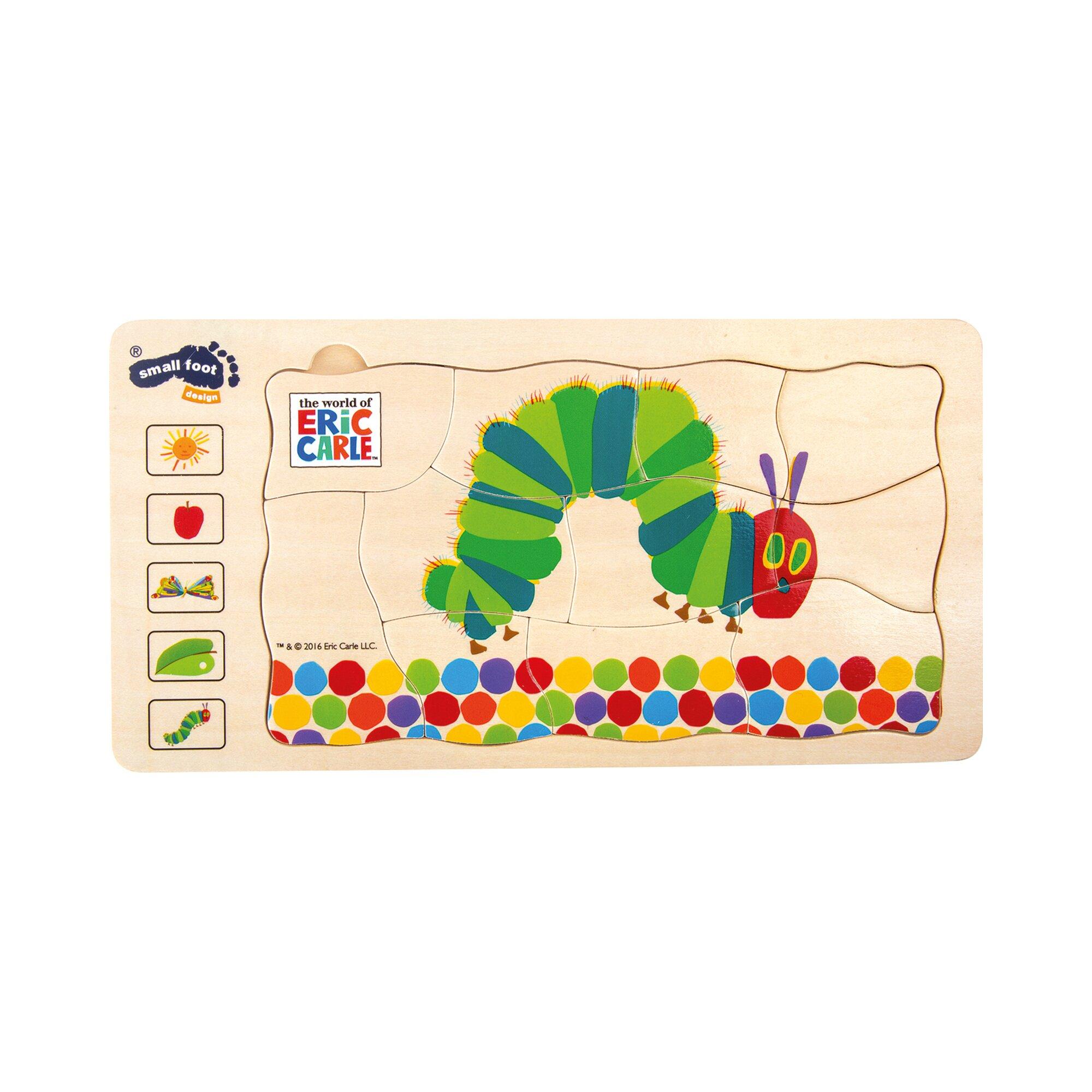 Die Kleine Raupe Nimmersatt Schichtenpuzzle aus Holz