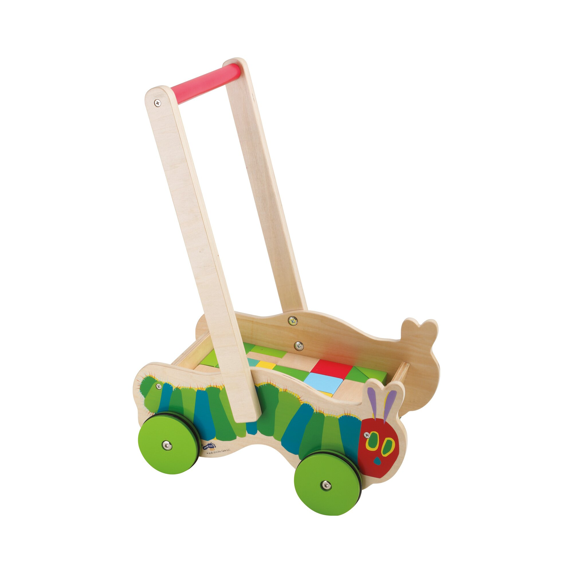 Die Kleine Raupe Nimmersatt Lauflernwagen aus Holz