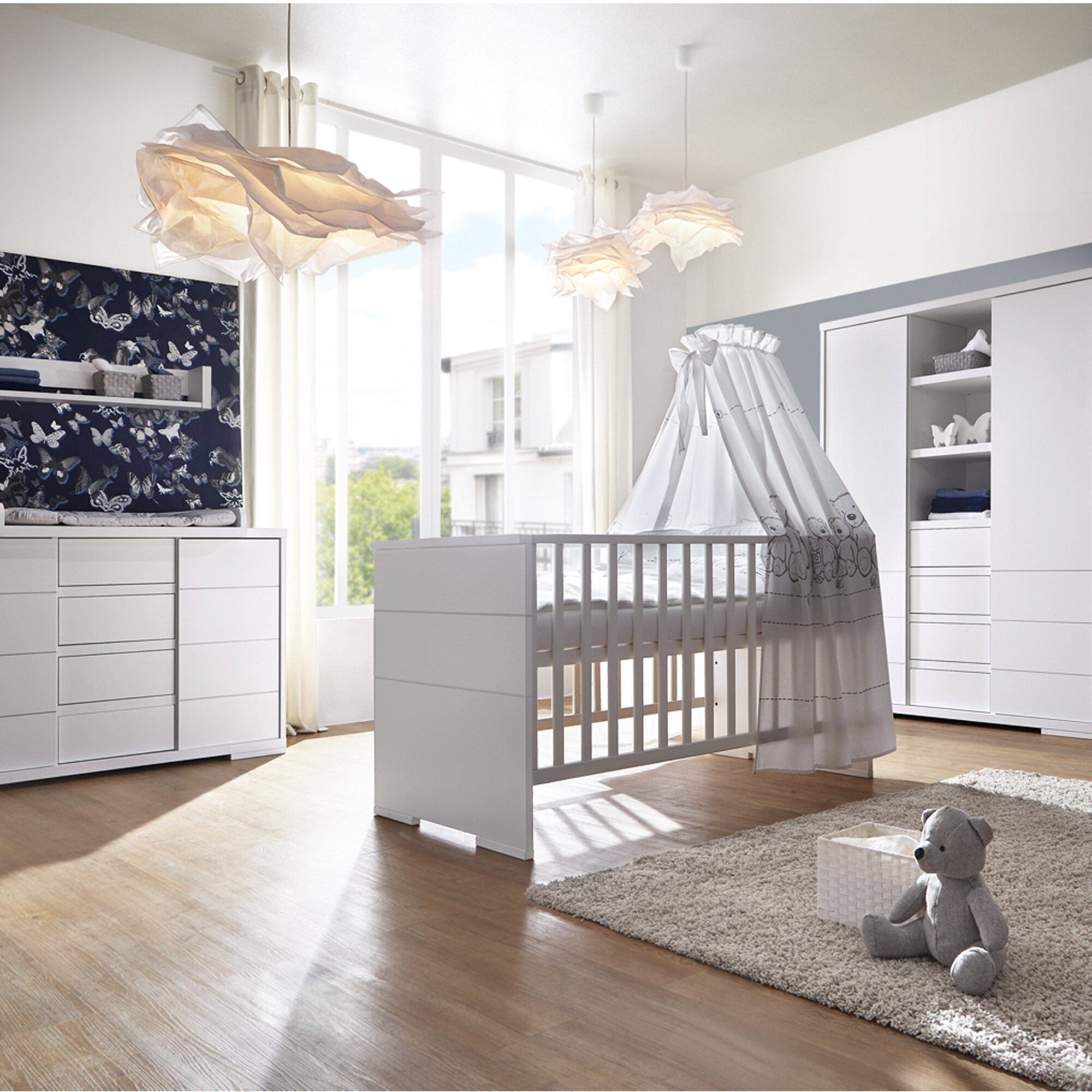 Schardt 3-tlg. Babyzimmer Maxx White