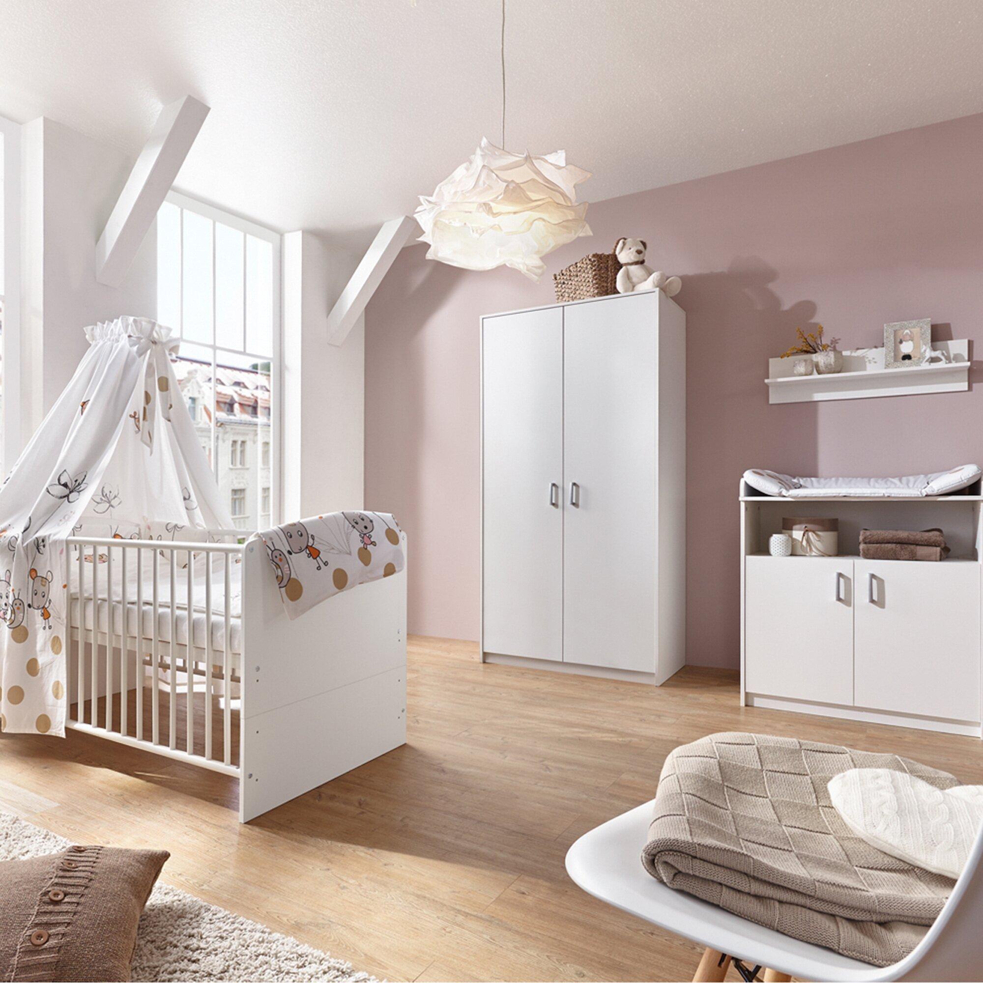 Schardt 3-tlg. Babyzimmer Classic White mit 2-türigem Kleiderschrank
