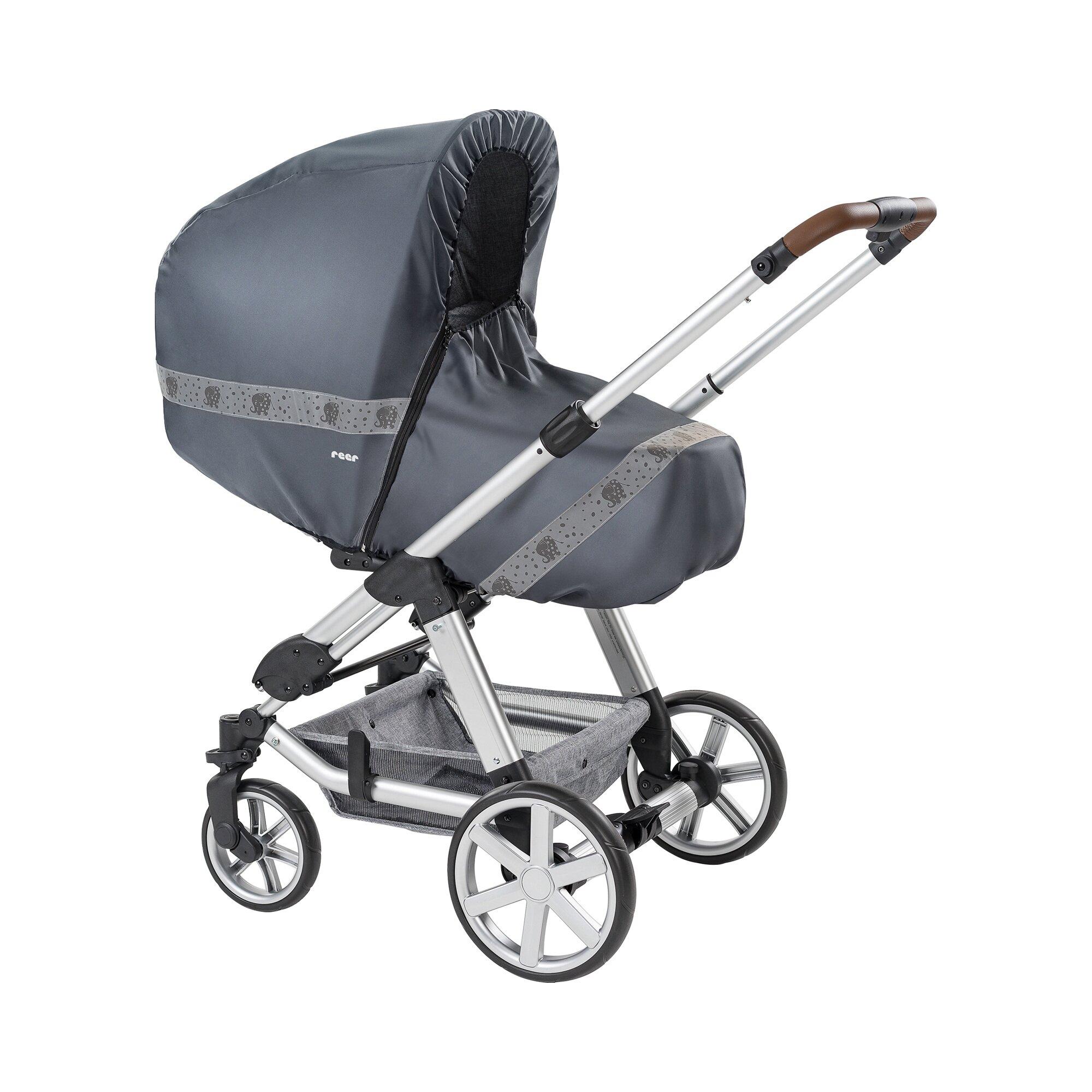 Reer Regenschutz RainSafe Classic+ für Kinderwagen grau