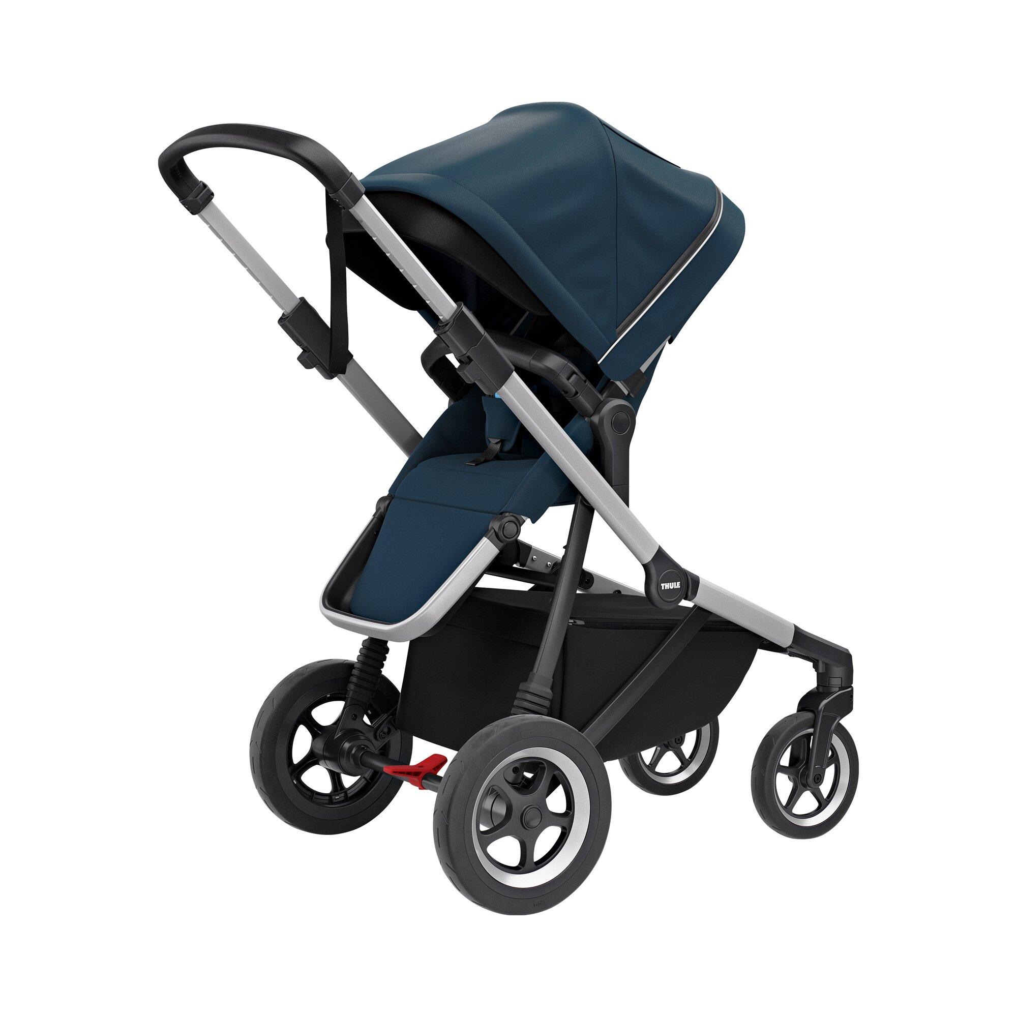 thule-sleek-kinderwagen-blau