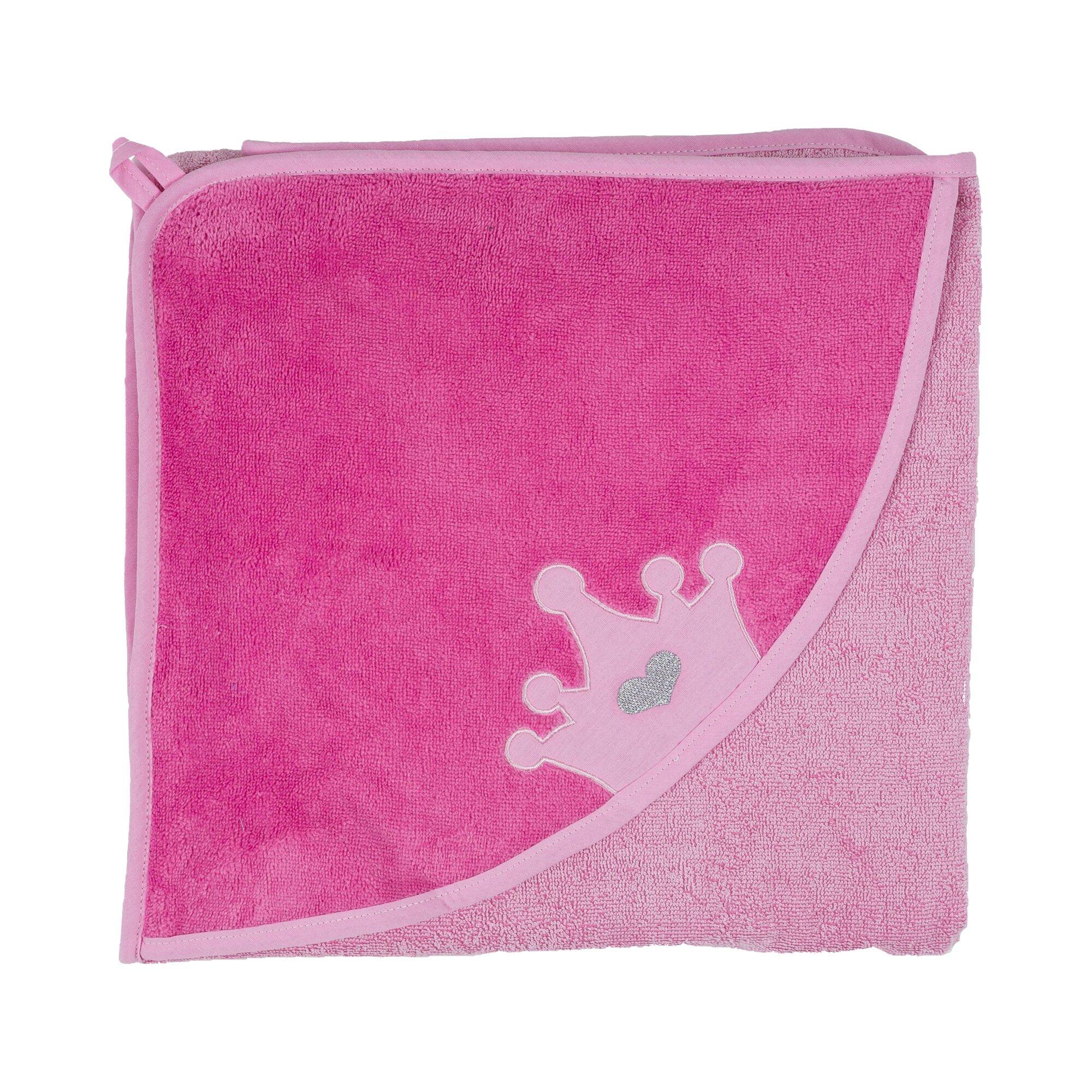 smithy-kapuzen-badetuch-krone-100x100-cm-pink
