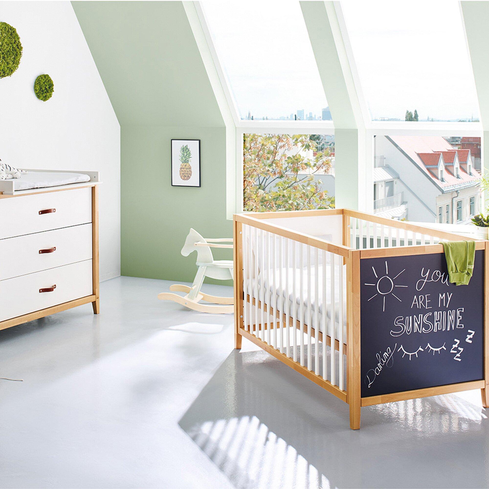 Pinolino 2-tlg. Babyzimmer Calimero breit mit Tafellack