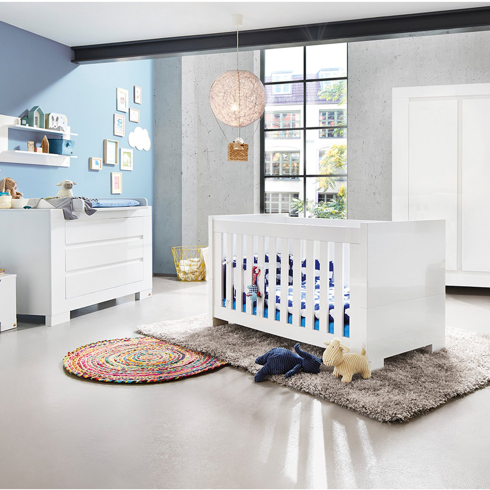 Pinolino 3-tlg. Babyzimmer Sky extrabreit groß