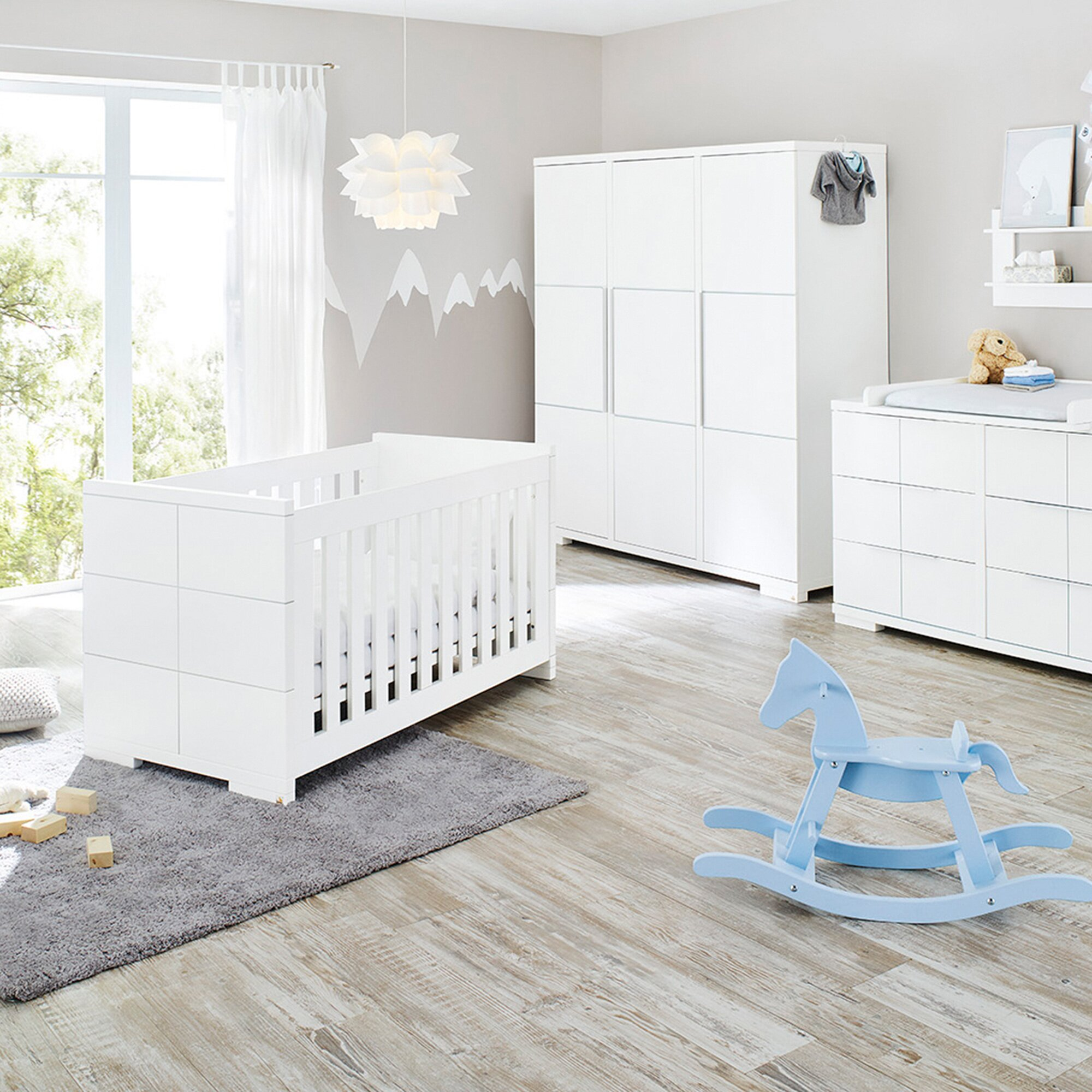 Pinolino 3-tlg. Babyzimmer Polar extrabreit groß