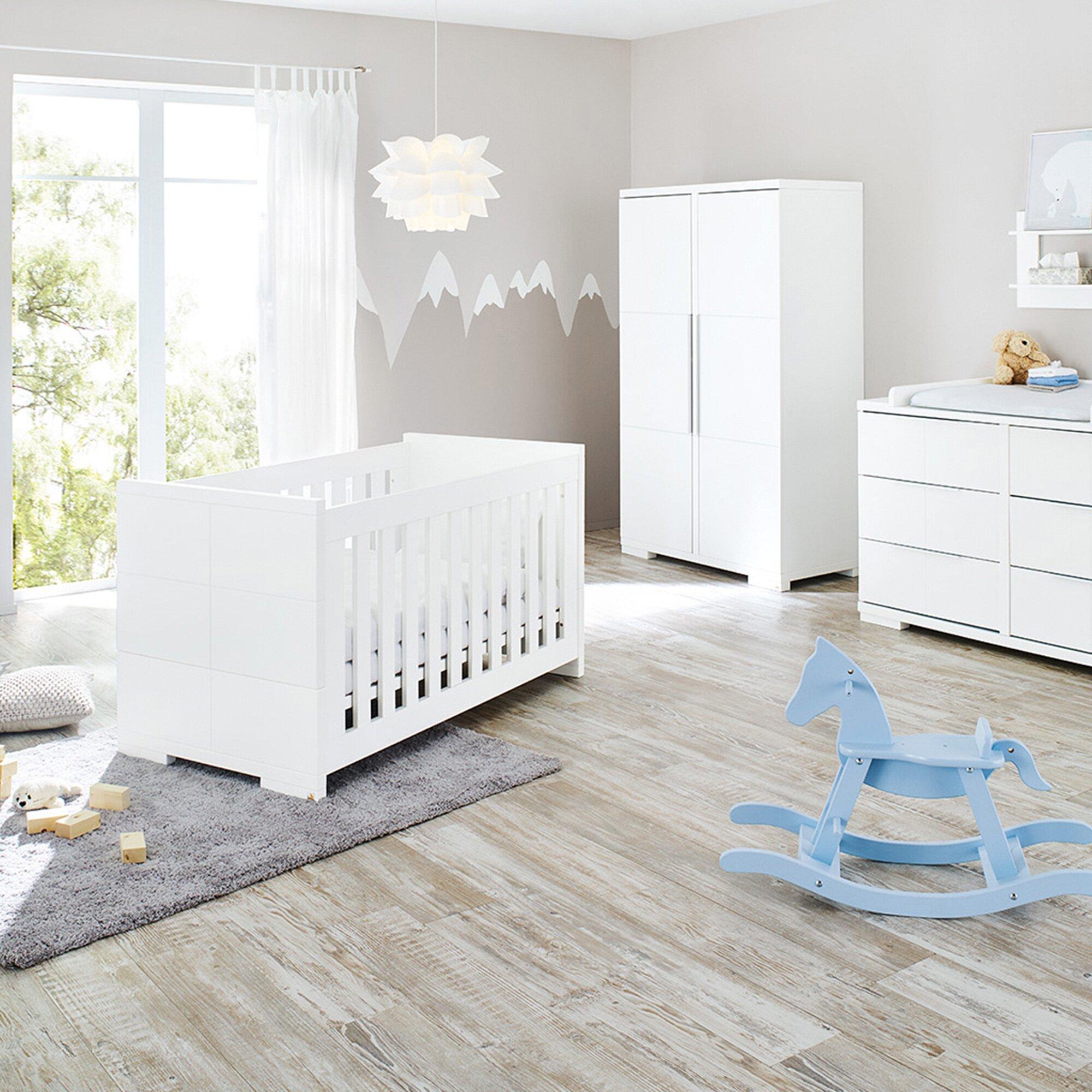 Pinolino 3-tlg. Babyzimmer Polar extrabreit