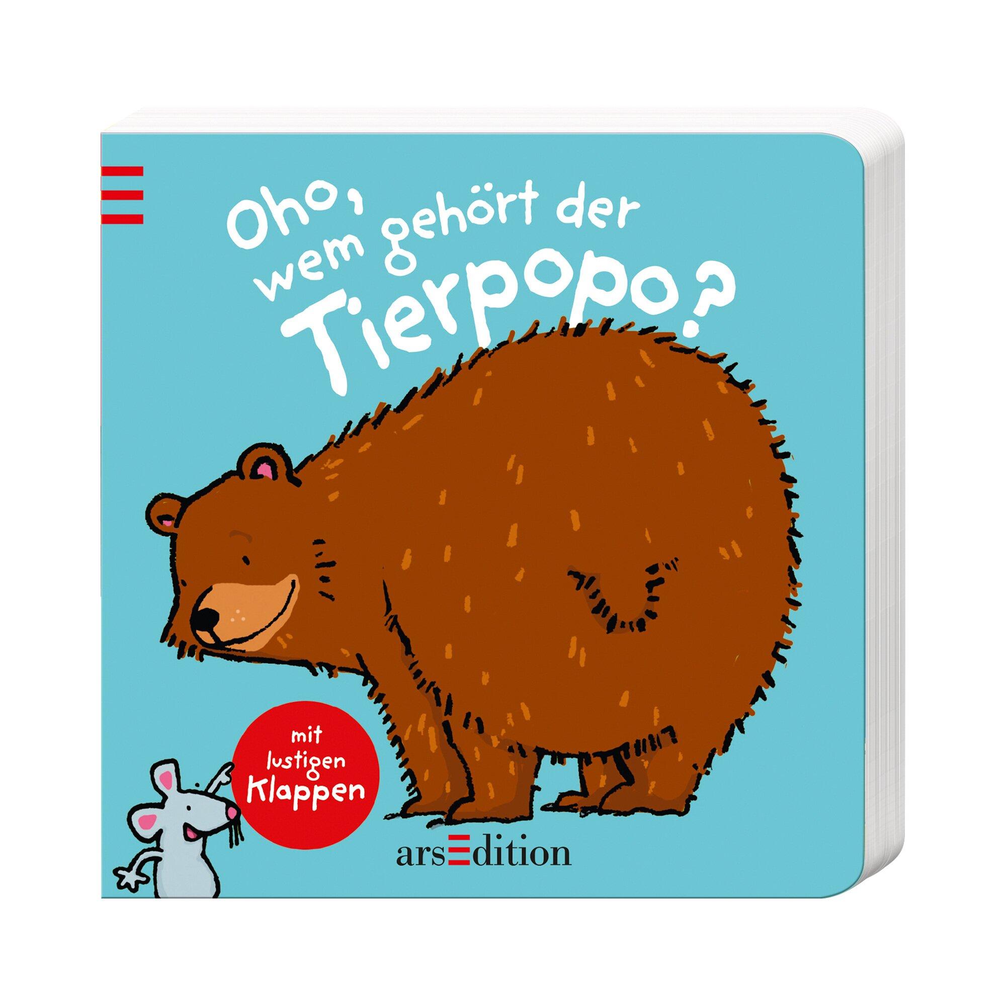 Ars Edition Pappbilderbuch Oho, wem gehört der Tierpopo?