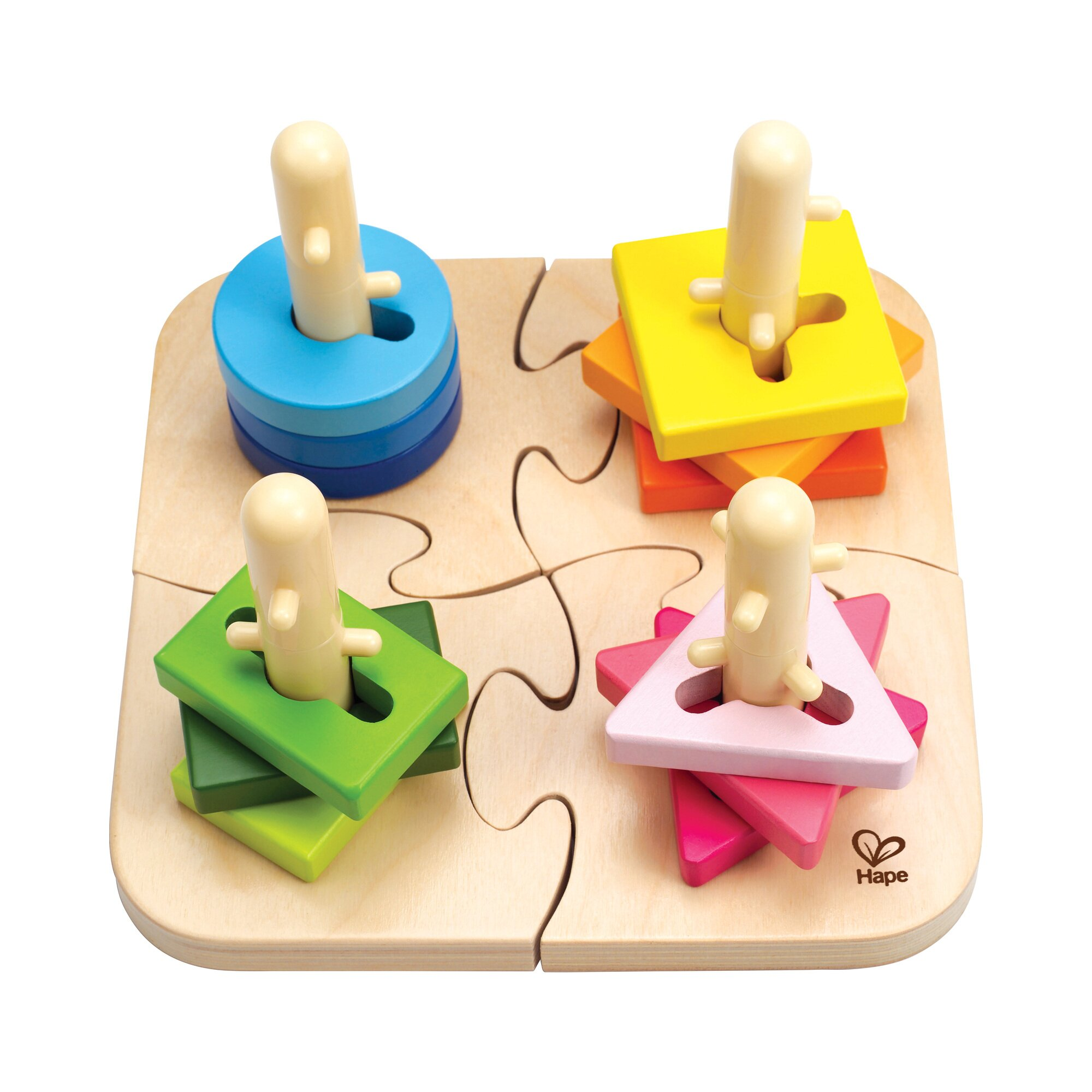 Hape Steckspiel Kreatives Steckpuzzle