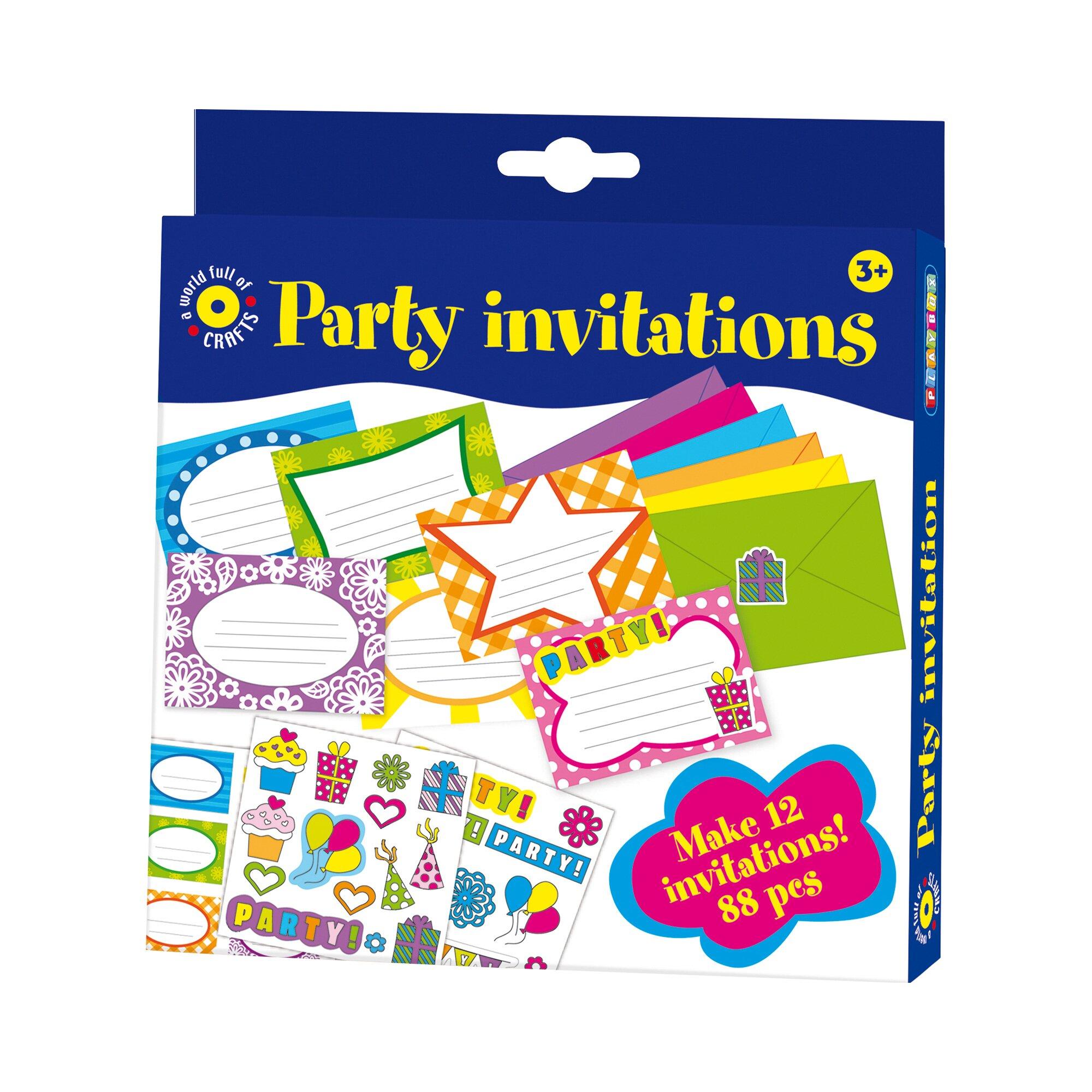 Playbox Bastel-Set Einladungskarten