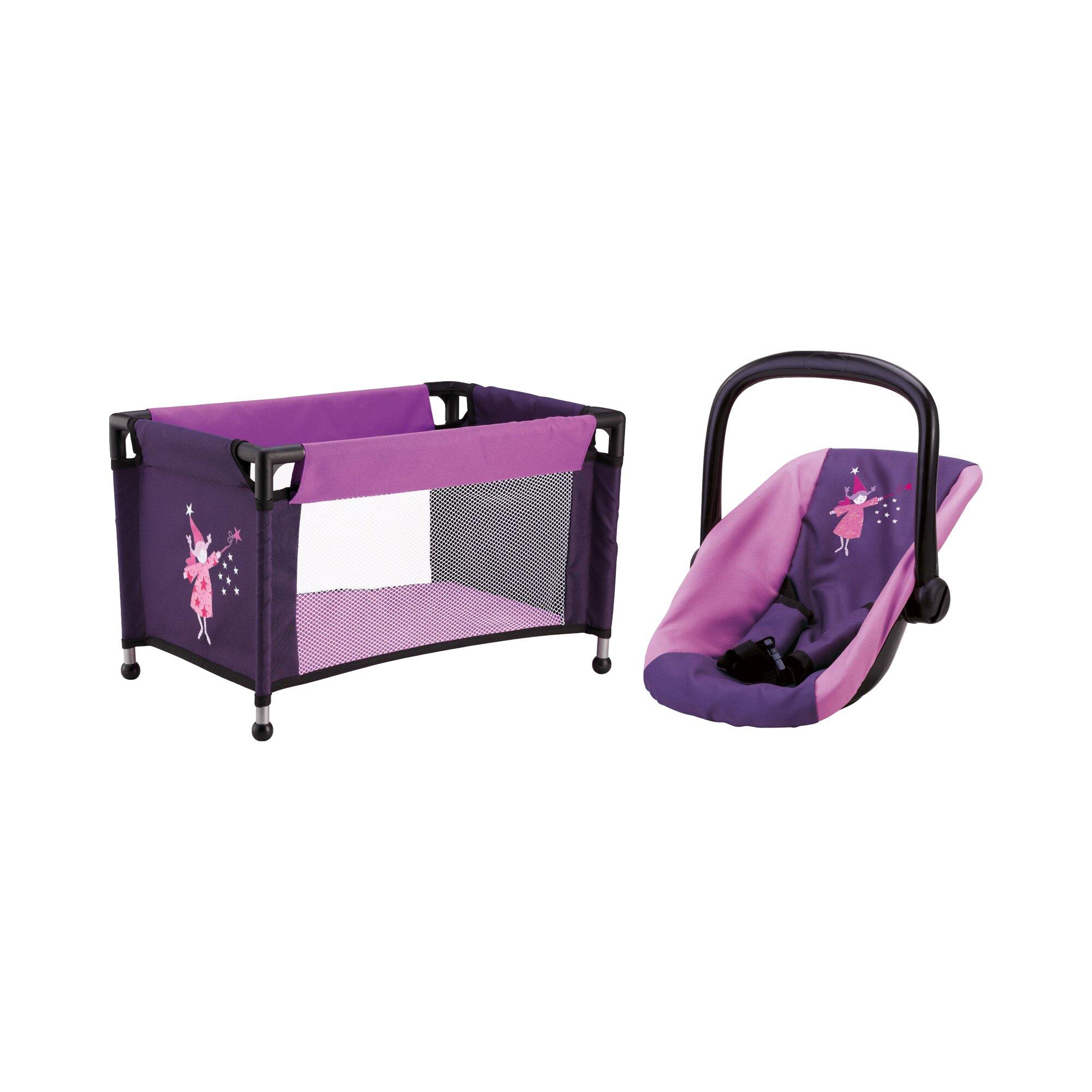 Bayer Design Puppen-Autositz mit Reisebett Travel Set