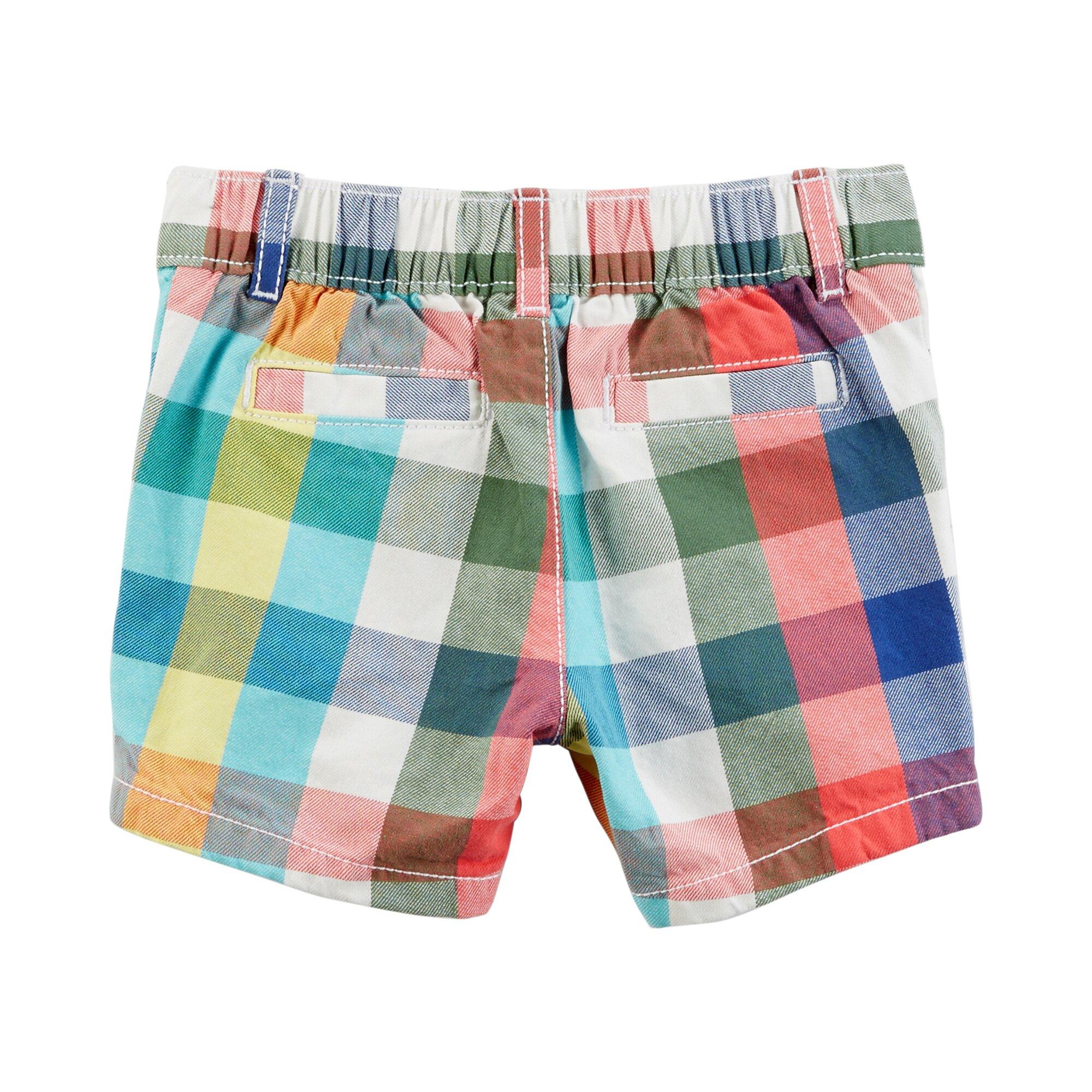 carter-s-2-tlg-set-jeans-hemd-kurzarm-und-shorts-karo